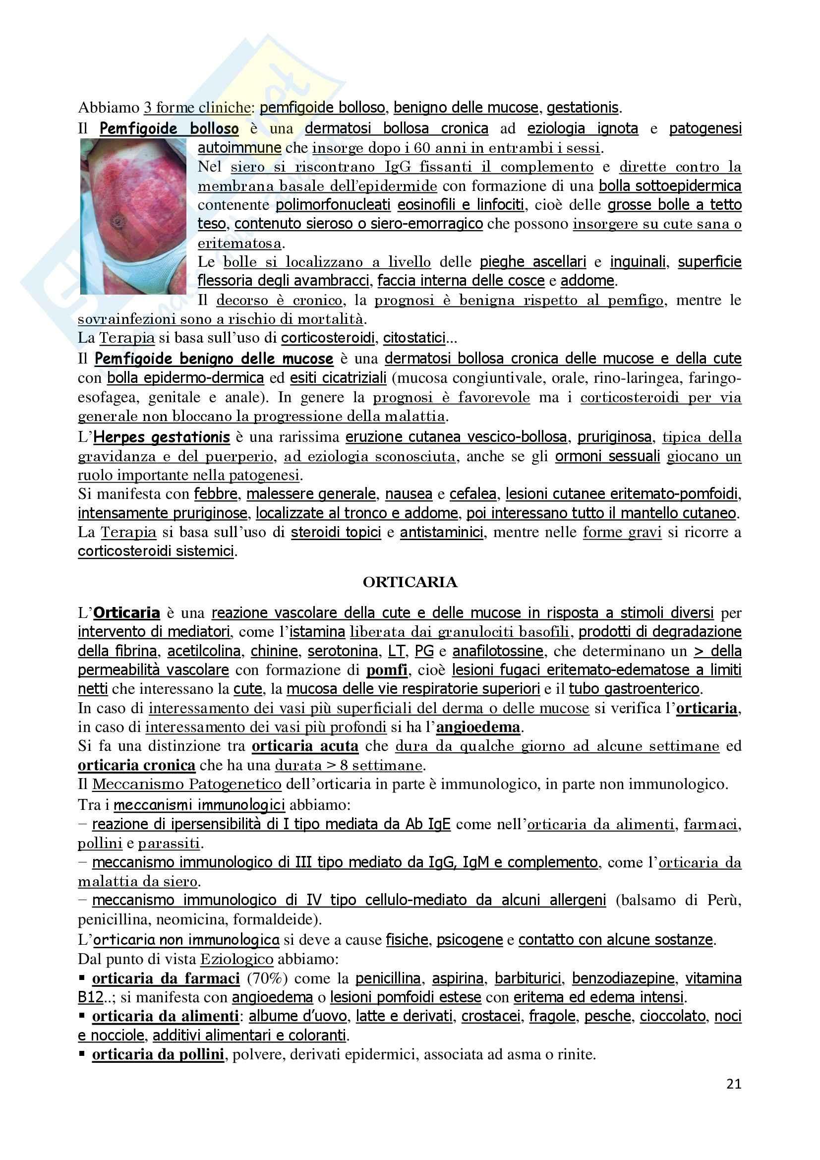 Dermatologia - Anatomia e fisiologia della cute Pag. 21