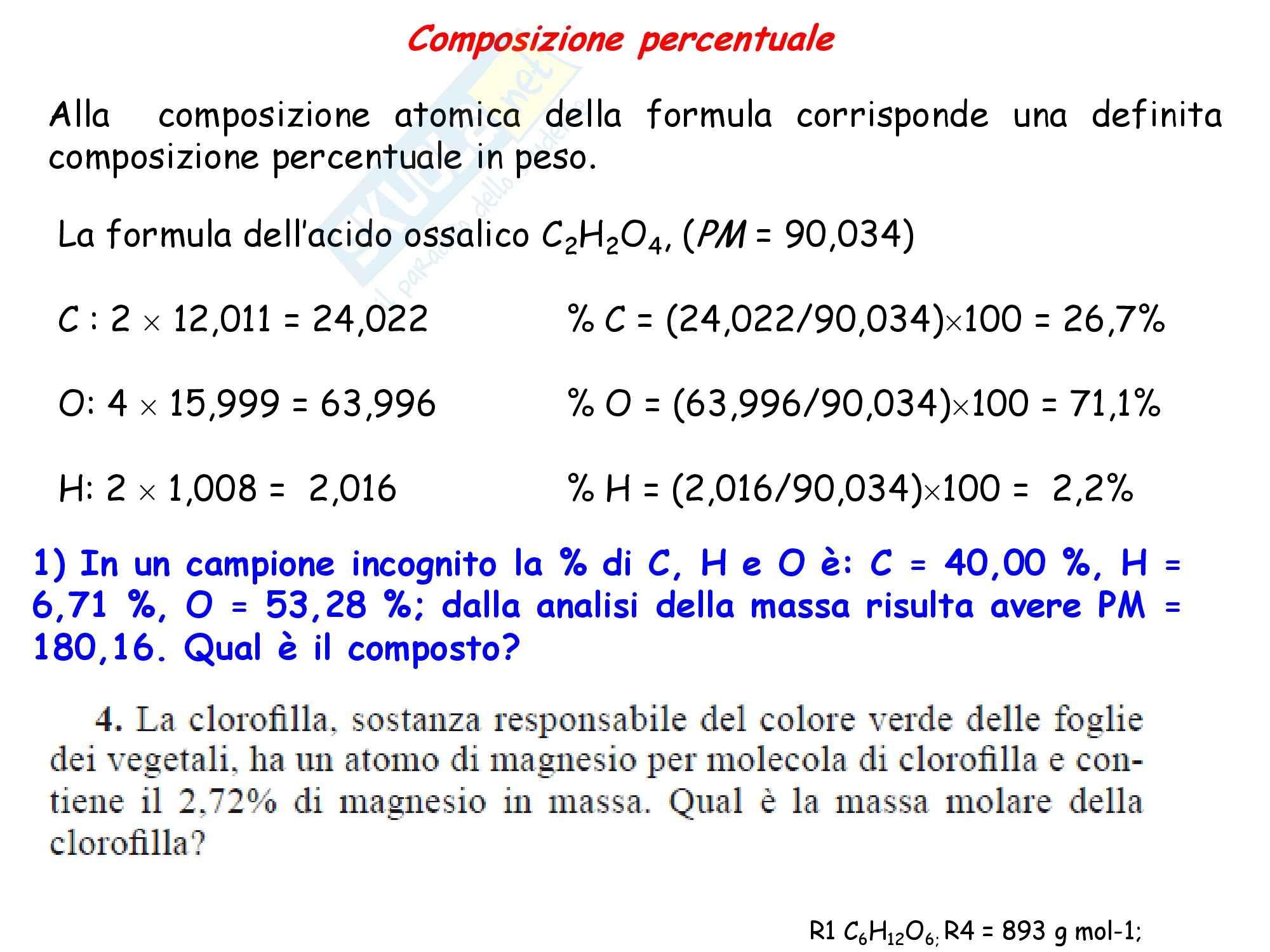 Chimica inorganica - bilanciamento reazioni chimiche