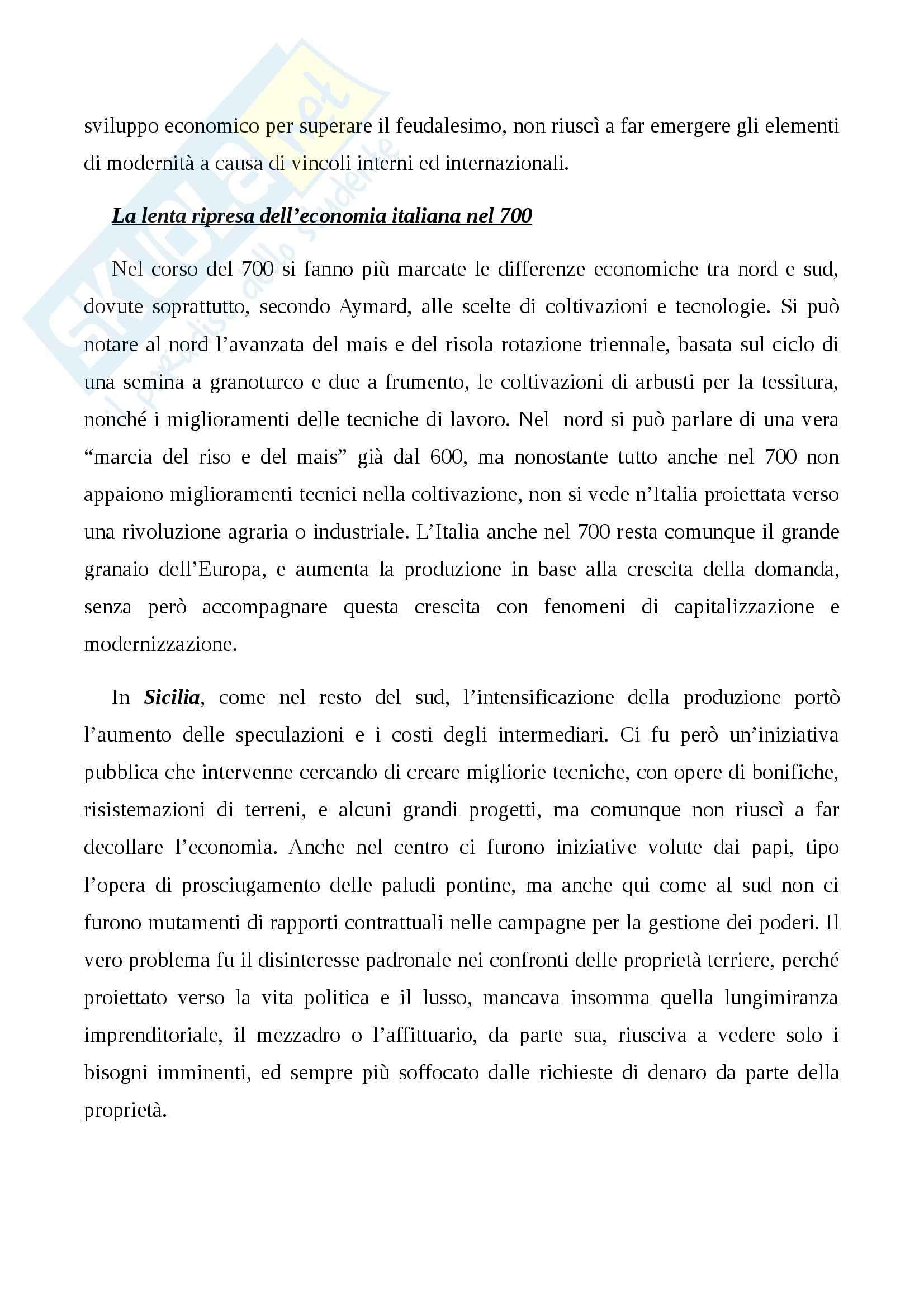 Riassunto esame Storia Moderna, prof. Damiani, libro consigliato L'Italia del 700: Crisi, Trasformazioni e Lumi, Carpanetto, Recuperati Pag. 11
