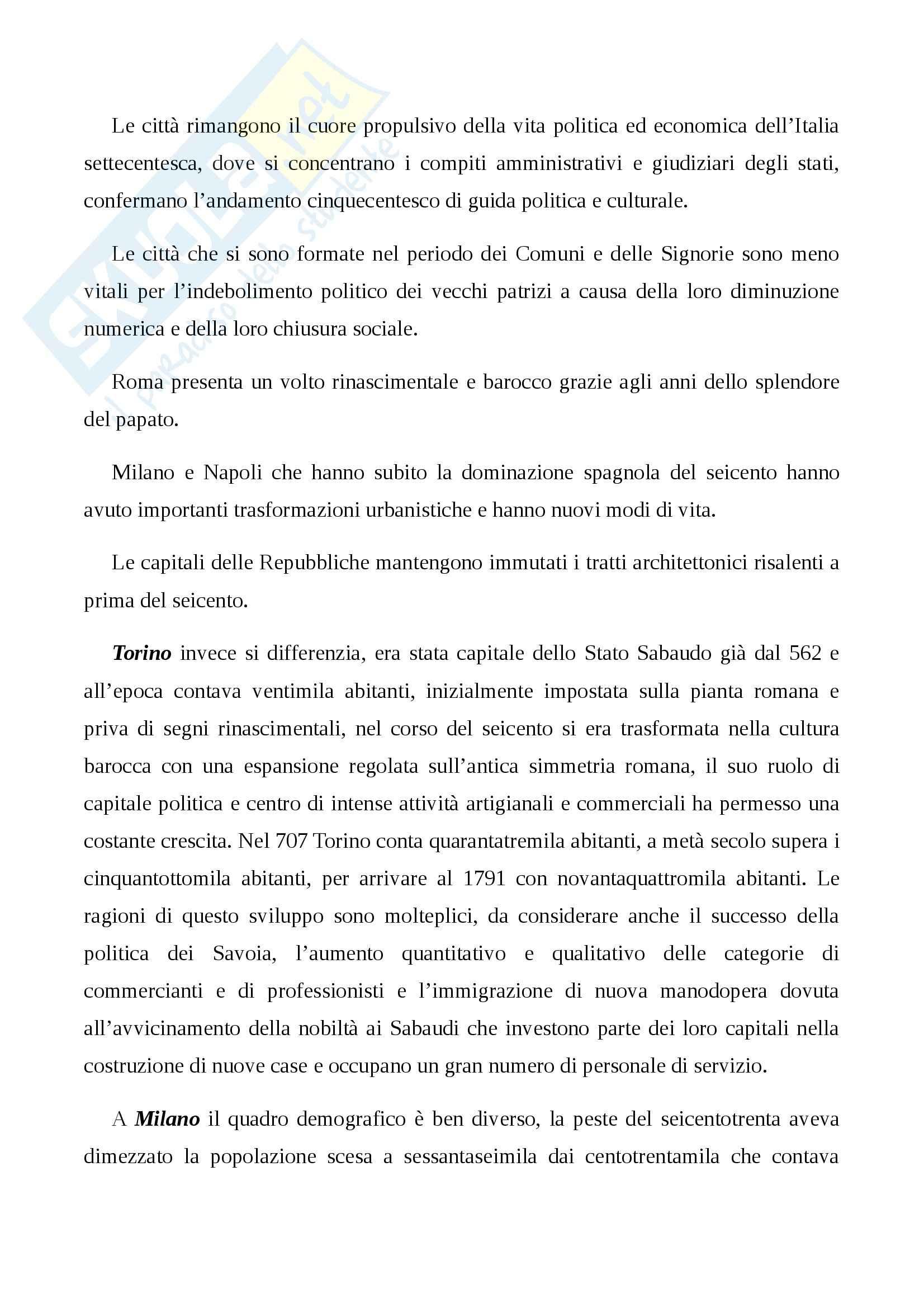 Riassunto esame Storia Moderna, prof. Damiani, libro consigliato L'Italia del 700: Crisi, Trasformazioni e Lumi, Carpanetto, Recuperati Pag. 2