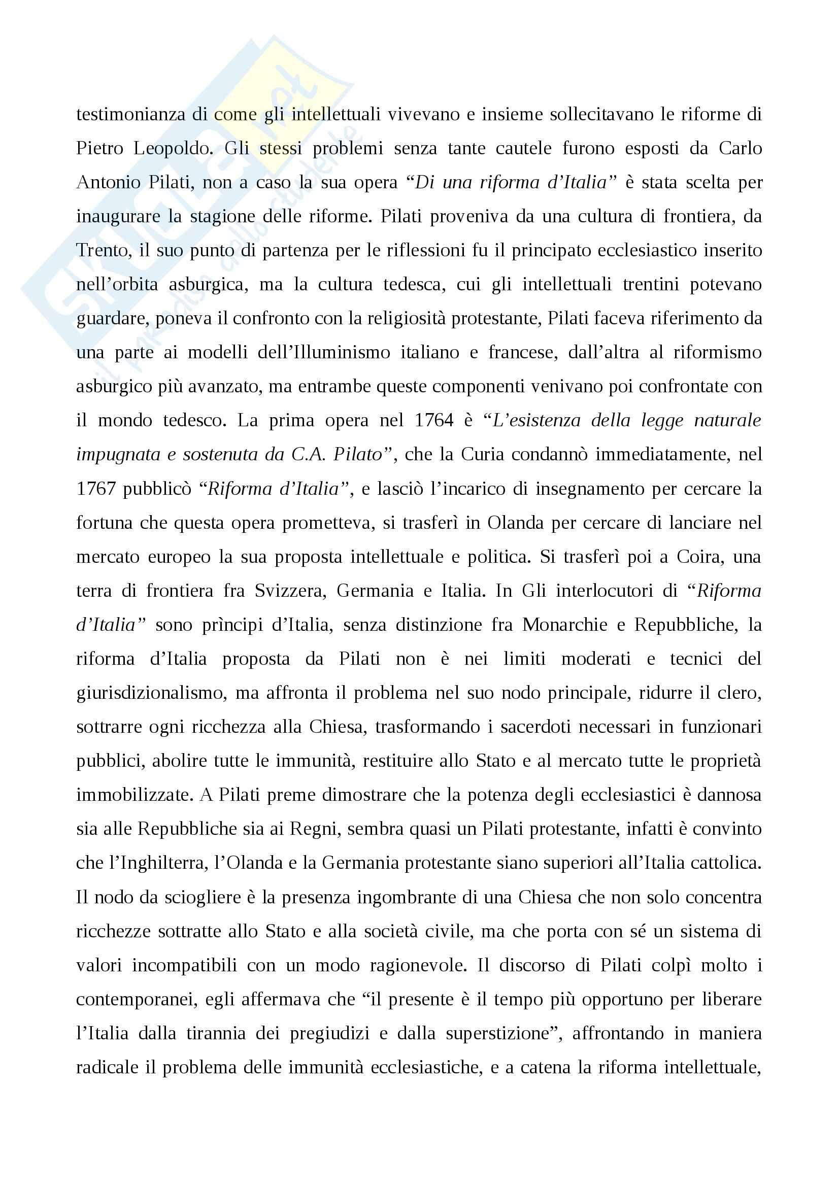 Riassunto esame Storia Moderna, prof. Damiani, libro consigliato L'Italia del 700: Crisi, Trasformazioni e Lumi, Carpanetto, Recuperati Pag. 71