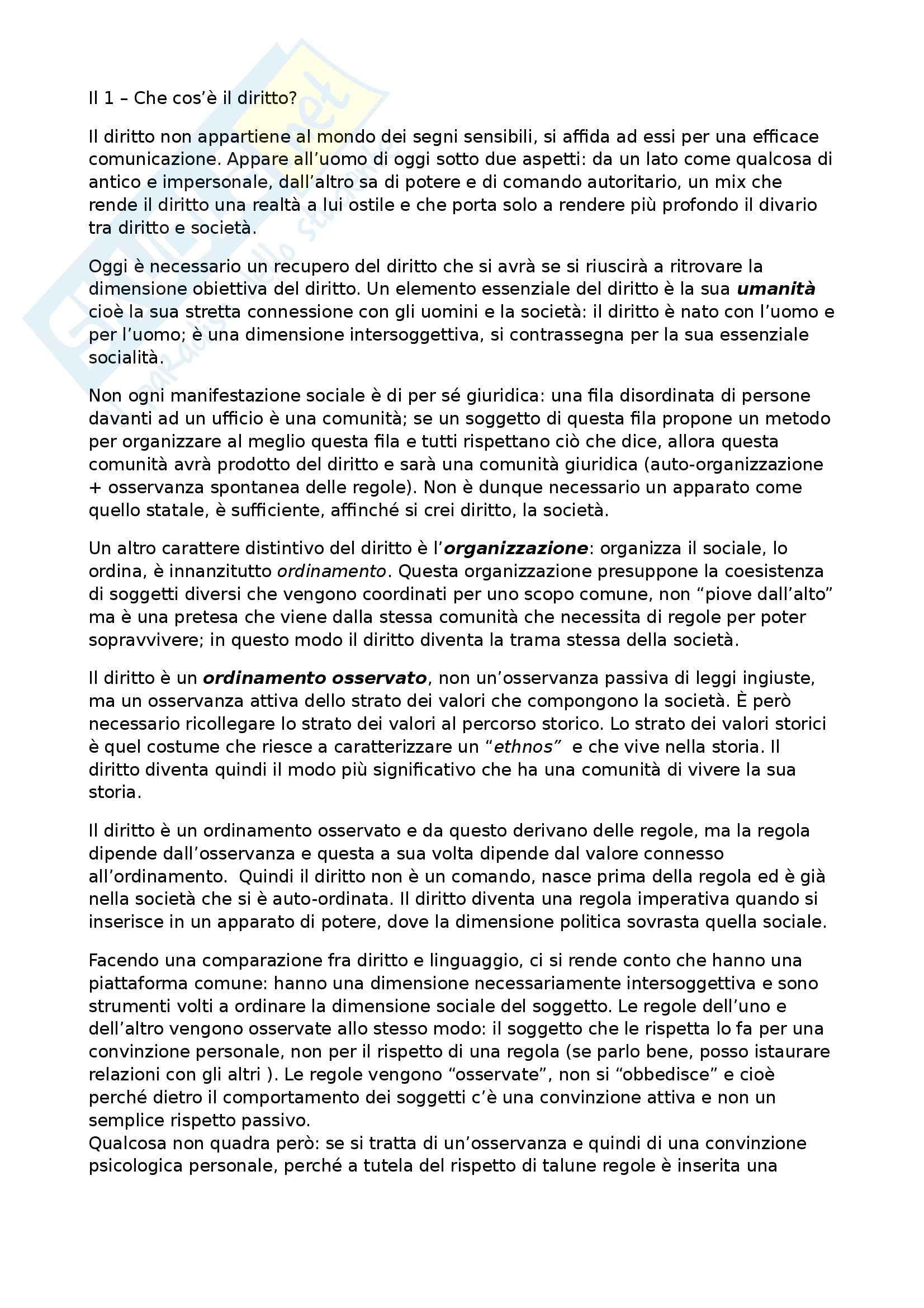 Riassunto esame Storia del Diritto Medievale e Moderno, prof. Speciale, libro consigliato Prima Lezione di Diritto, Grossi