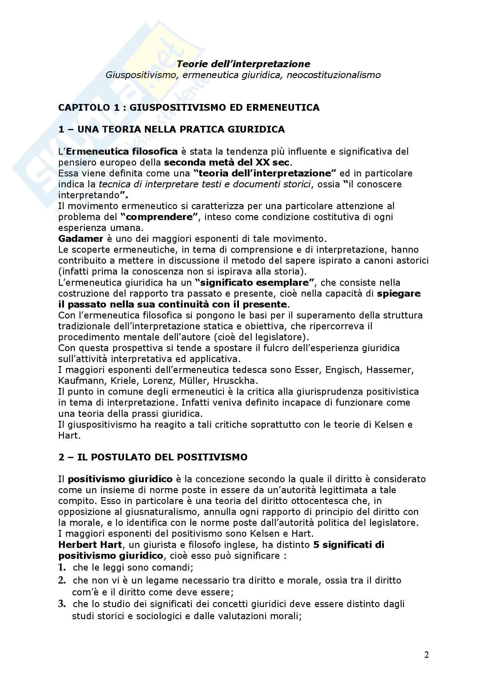 Positivismo giuridico ed ermeneutica filosofica Pag. 2