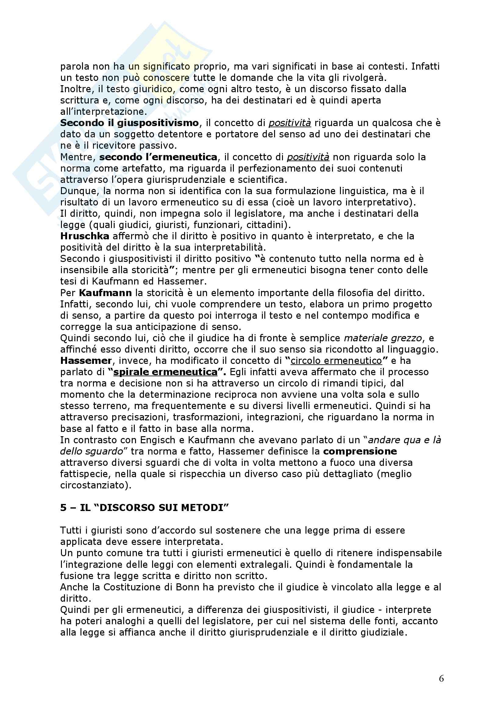 Positivismo giuridico ed ermeneutica filosofica Pag. 6