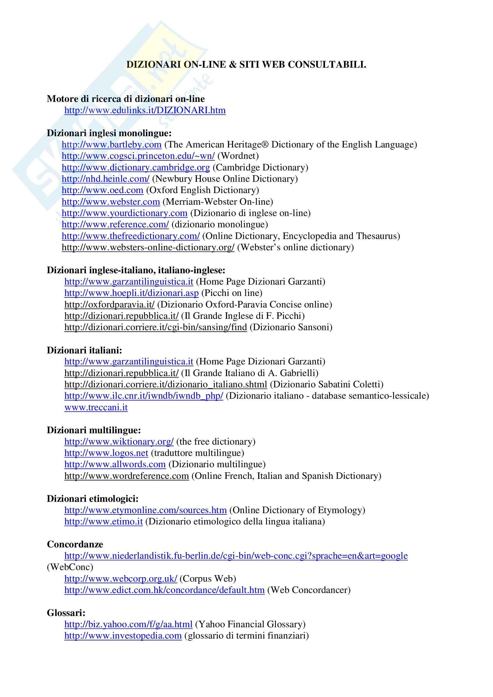 dispensa M. Cipri Lingua Inglese