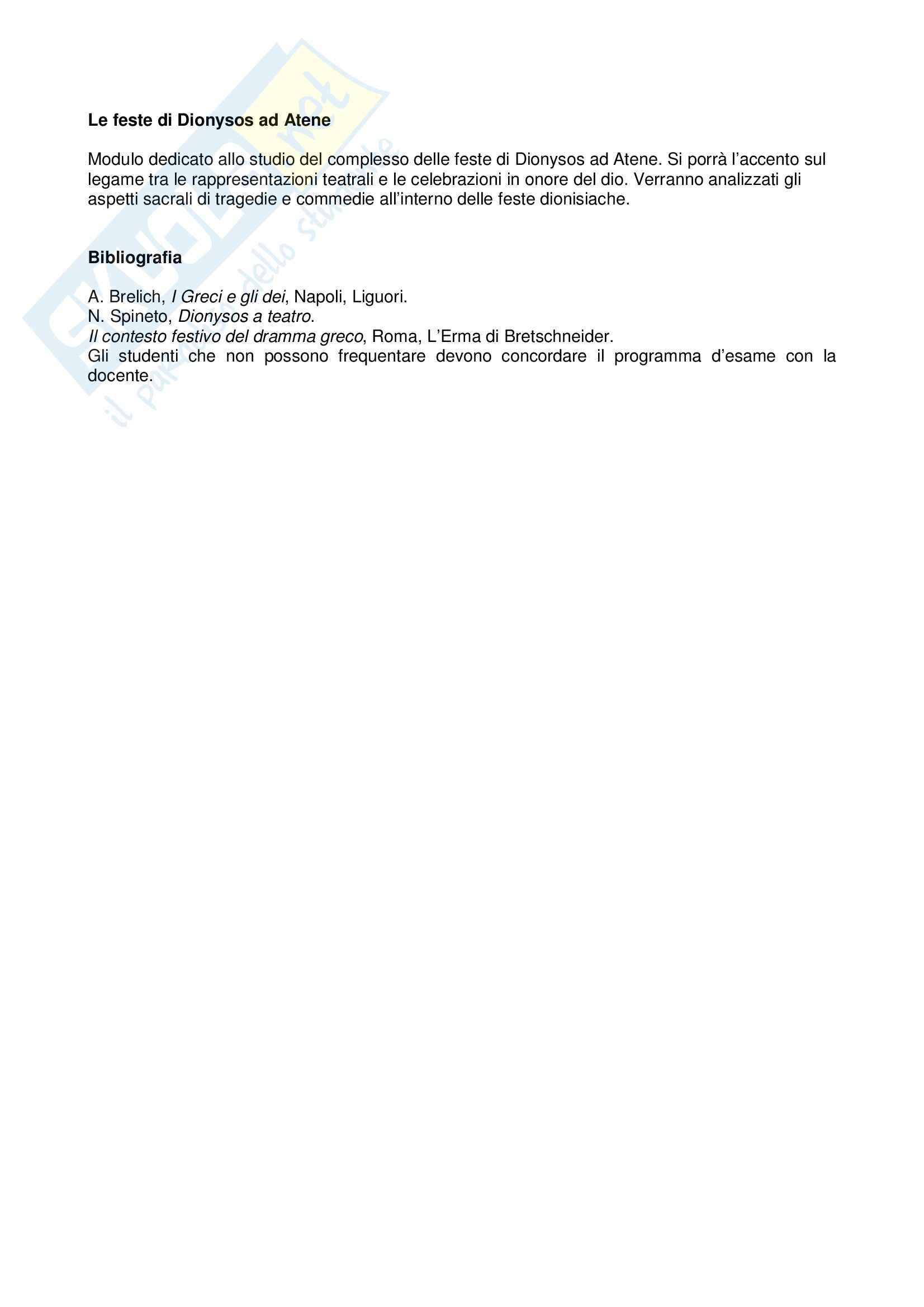 dispensa A. Capomacchia Storia delle religioni