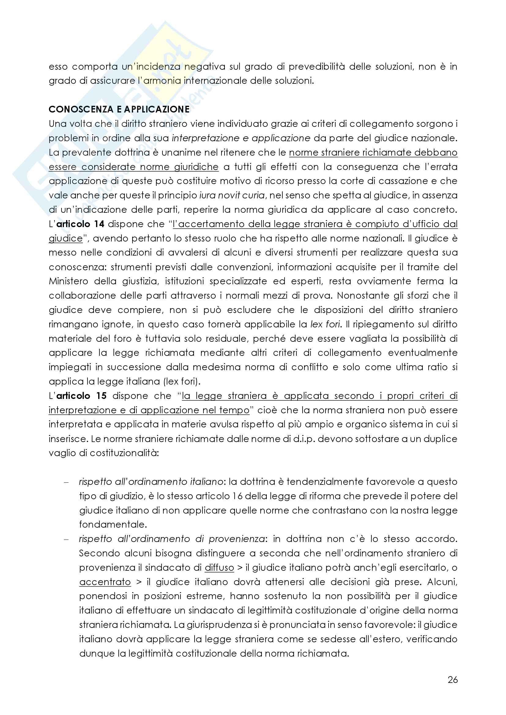 Riassunto diritto internazionale privato, prof. Fumagalli, libro consigliato Diritto internazionale privato, Mosconi, Campiglio, ultima edizione Pag. 26
