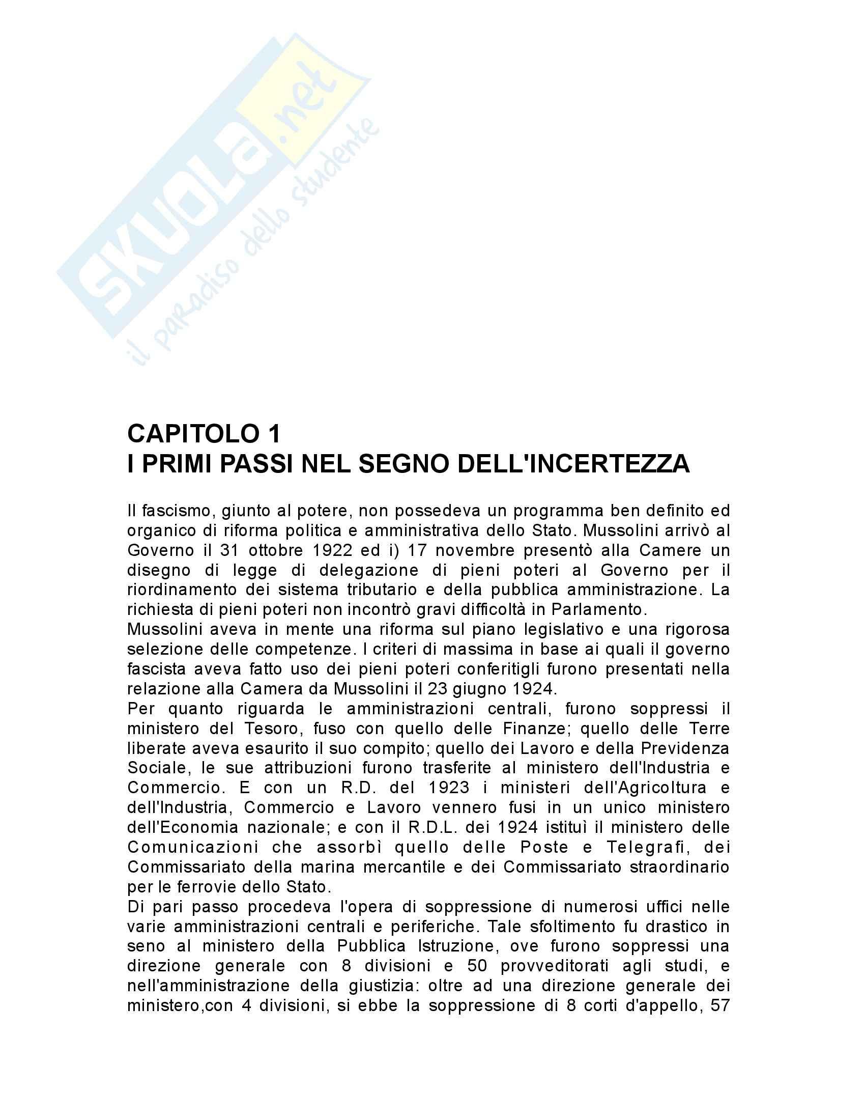 Riassunto esame Storia contemporanea, prof. Gagliani, libro consigliato L'organizzazione dello stato totalitario, Aquarone
