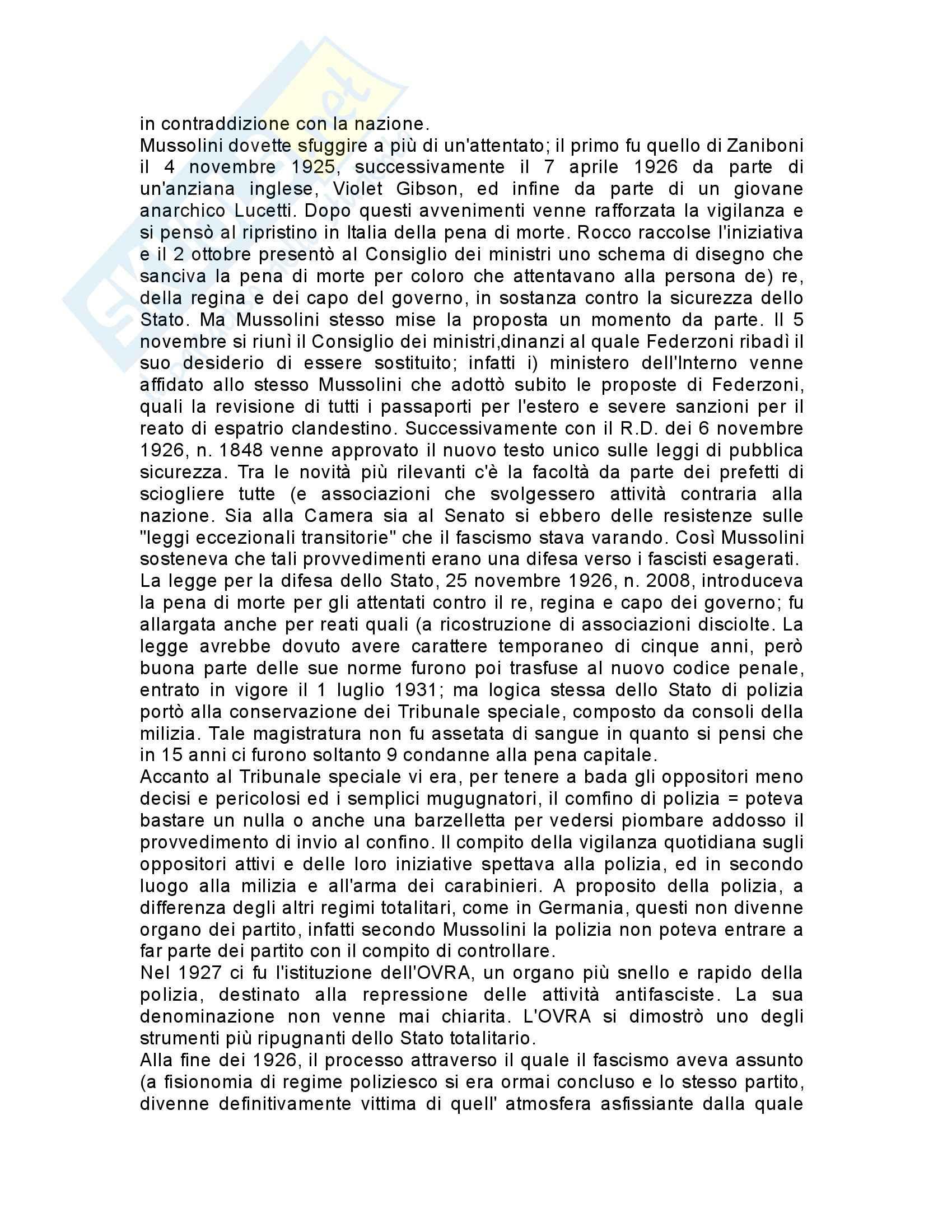 Riassunto esame Storia contemporanea, prof. Gagliani, libro consigliato L'organizzazione dello stato totalitario, Aquarone Pag. 11