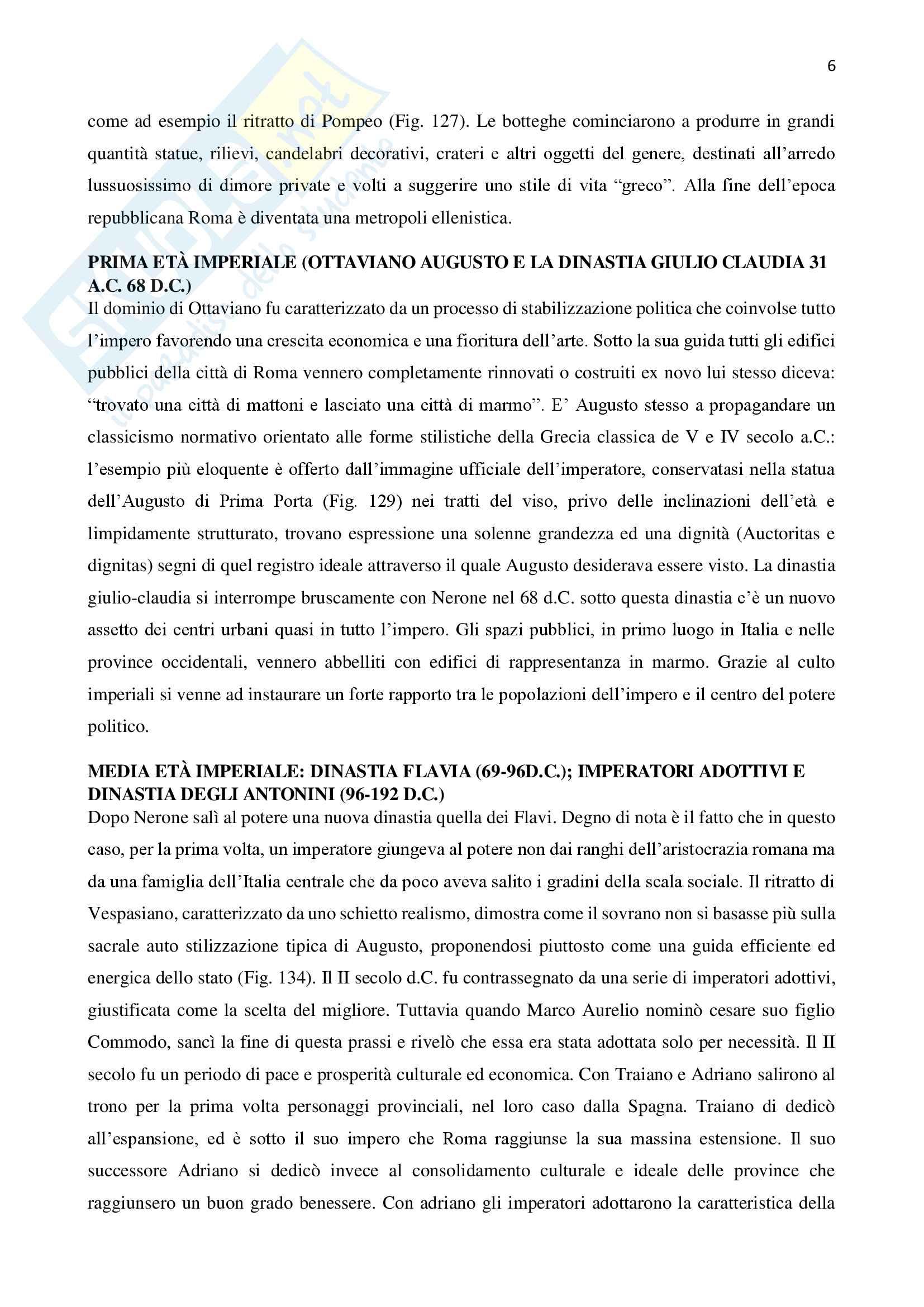 Riassunto esame archeologia greca e romana del professor Lippolis, libro consigliato L'archeologia classica: un'introduzione a cura di Tonio Hölscher Pag. 6