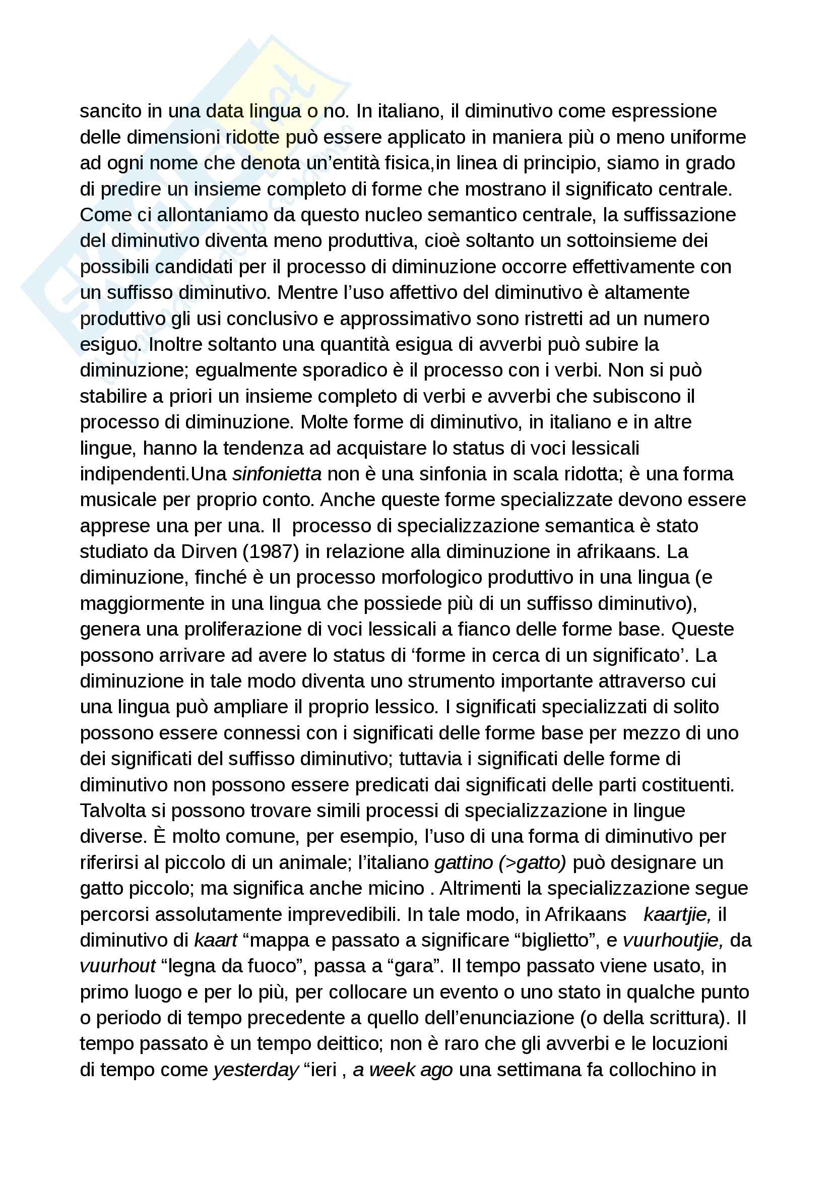 Riassunto esame Linguistica applicata, prof. Iannaccaro, libro consigliato La Categorizzazione linguistica, Taylor Pag. 16