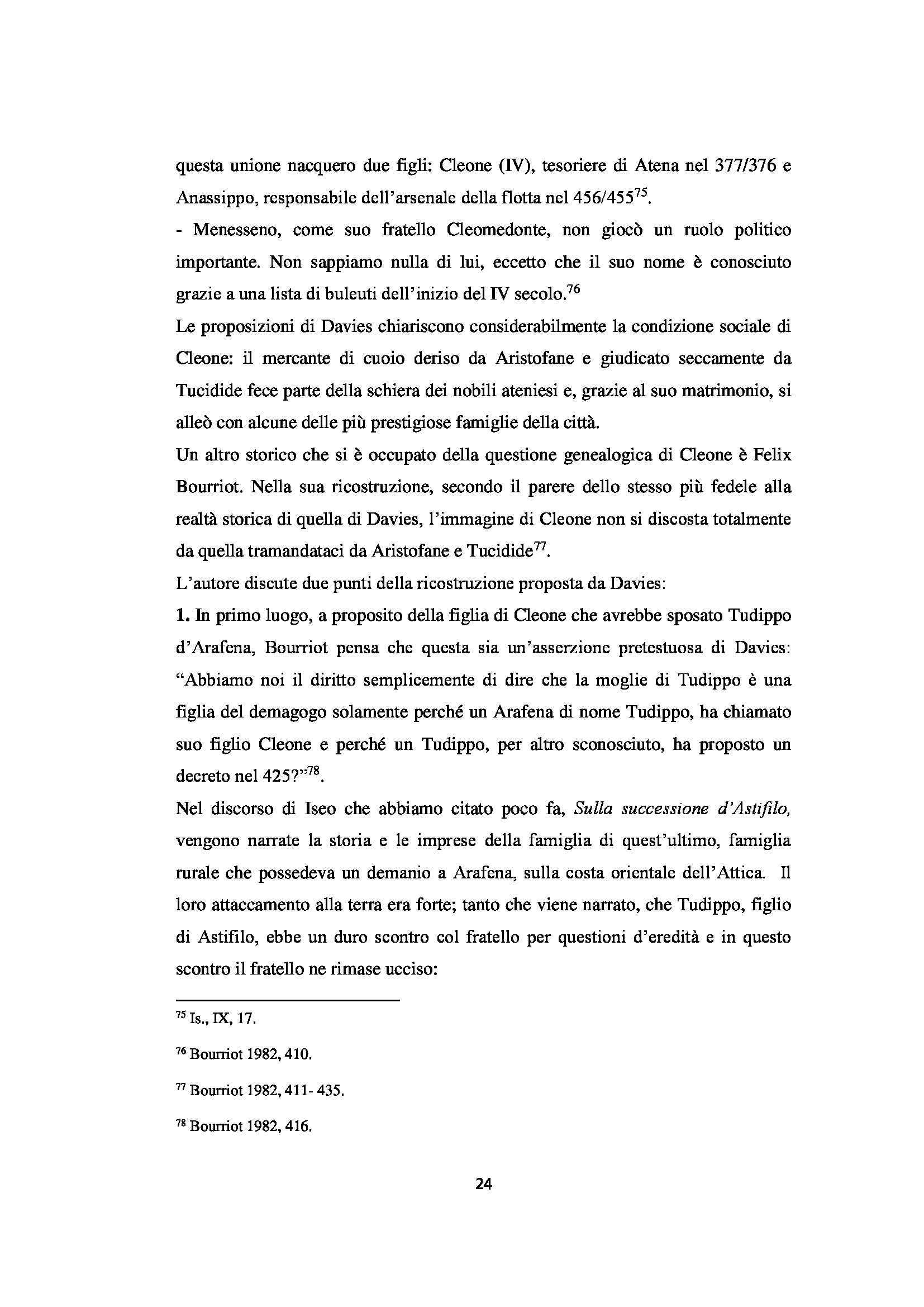 Cleone, generale e politico controverso - Tesi Pag. 26