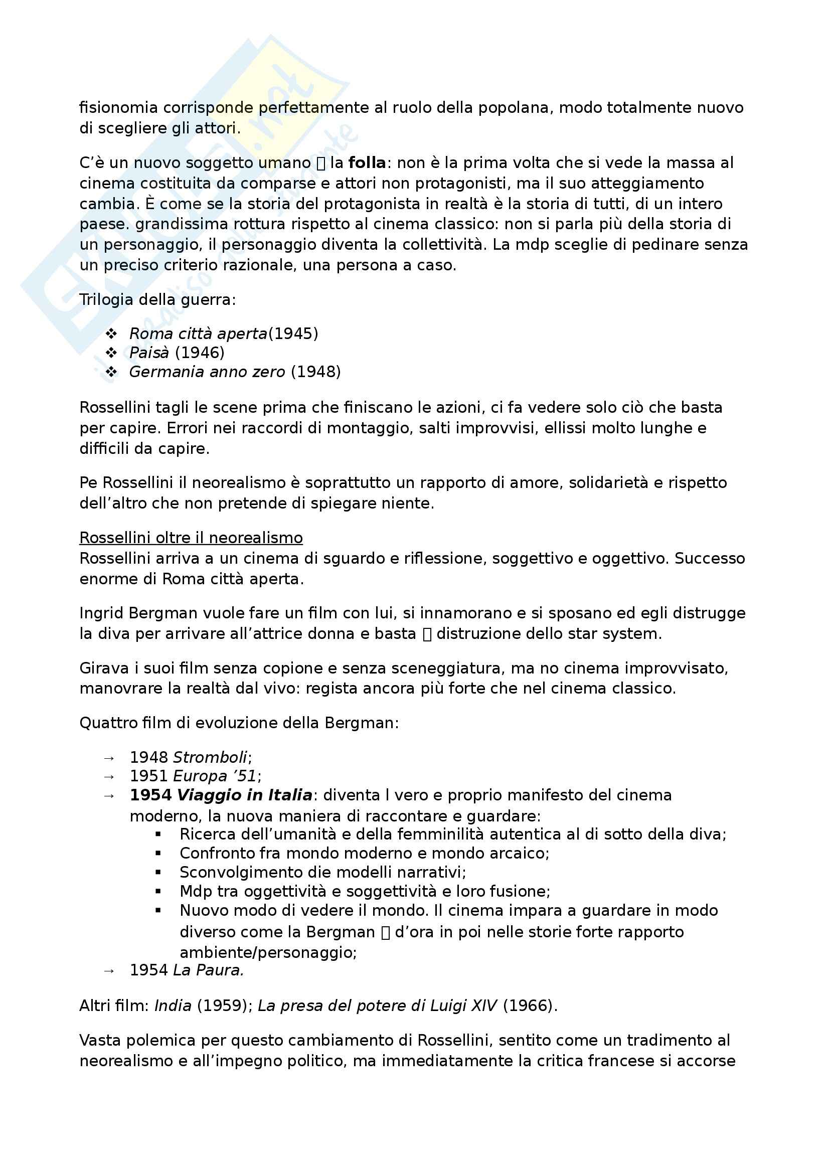 Riassunto esame Storia del Cinema, prof. Canova, libro consigliato L'Avventura del Cinematografo, Bernardi Pag. 41