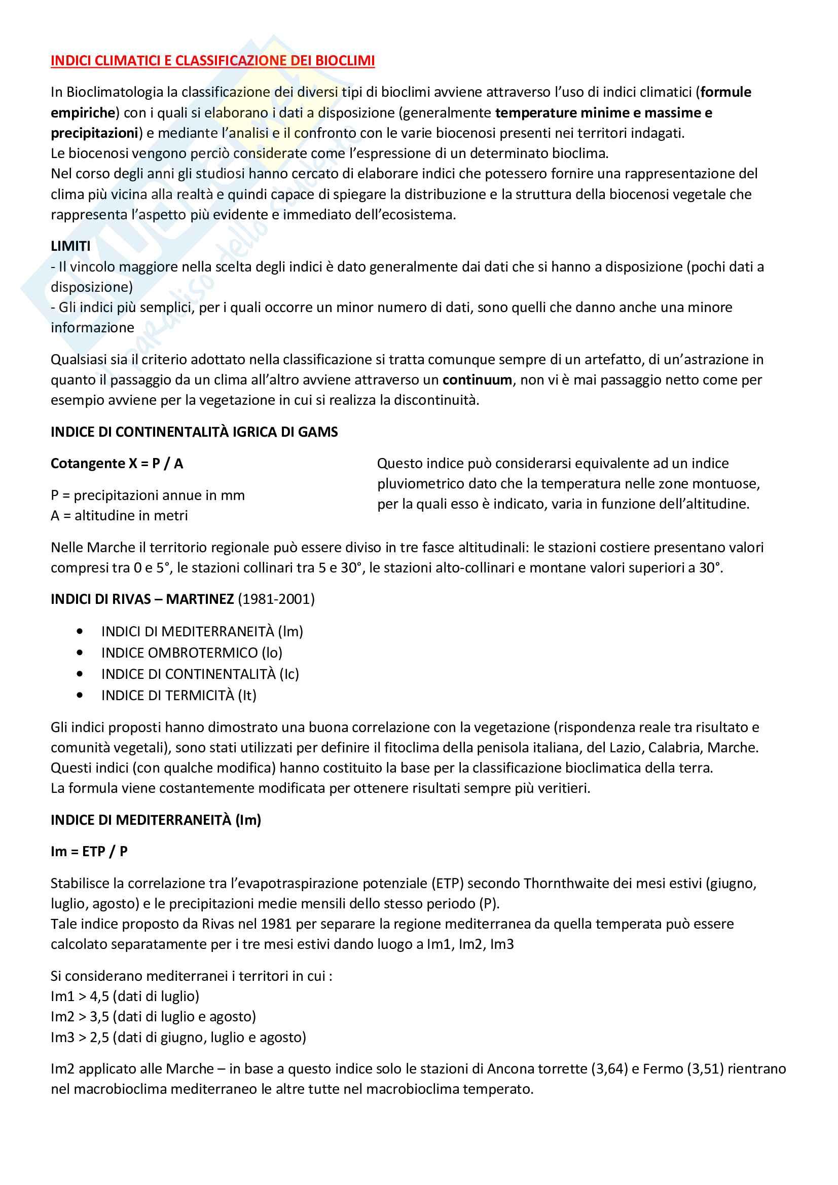 Ecologia vegetale e geobotanica Pag. 11