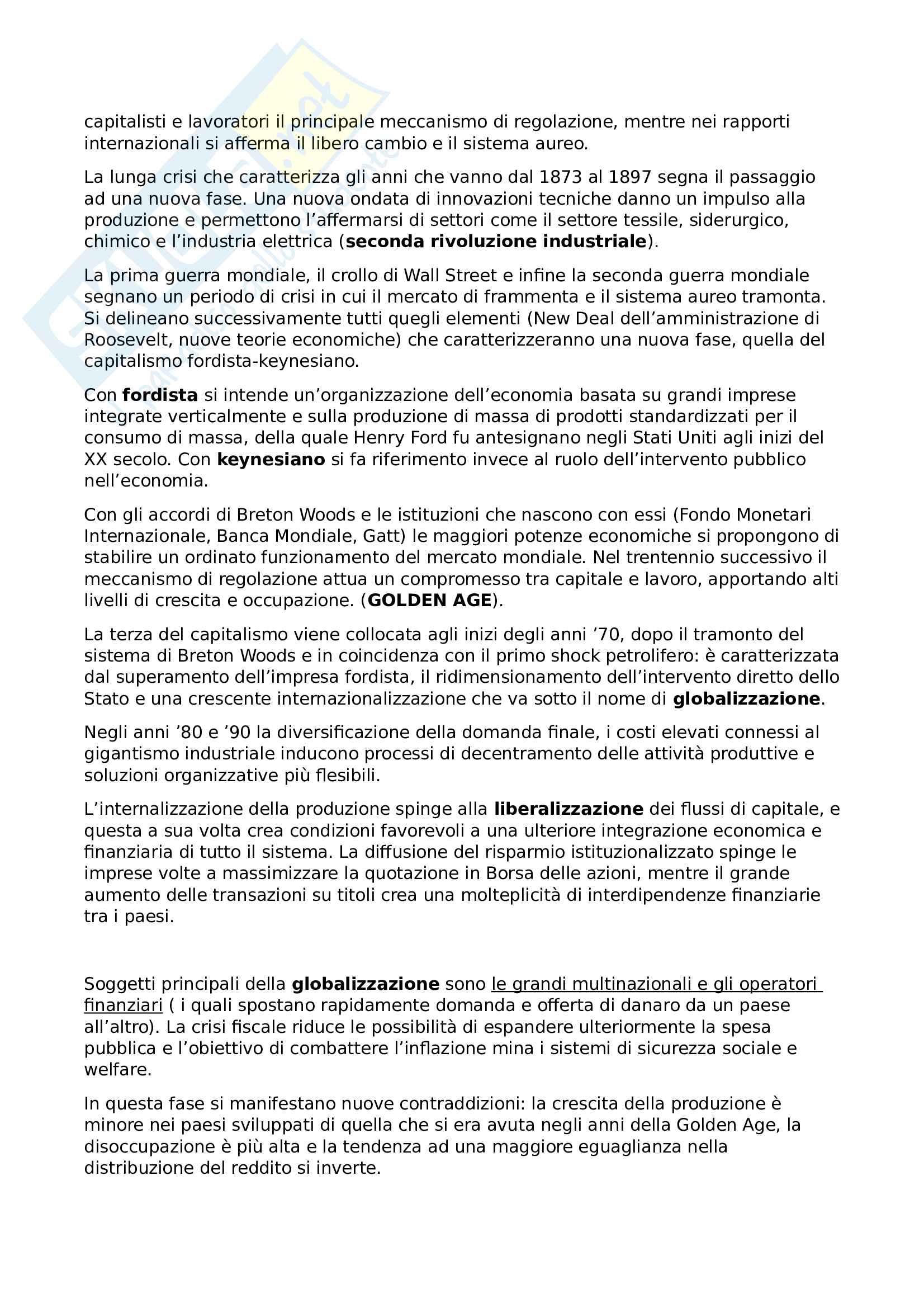 Riassunto esame Economia dello sviluppo, prof. Basile, libro consigliato Lezioni di economia dello sviluppo, Volpi Pag. 6