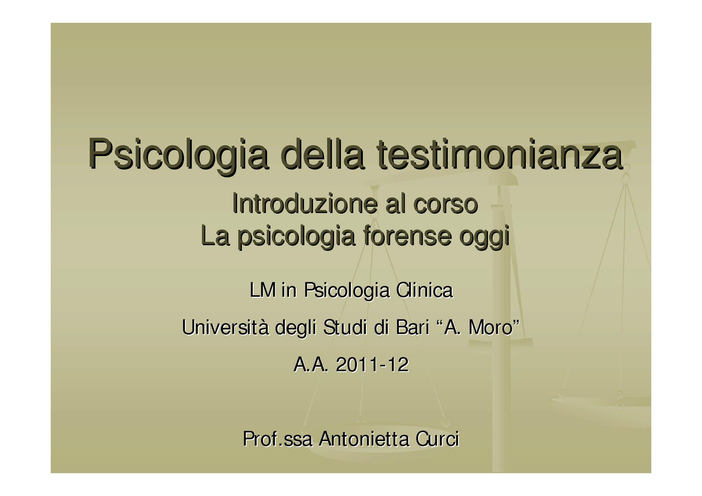 Psicologia forense oggi