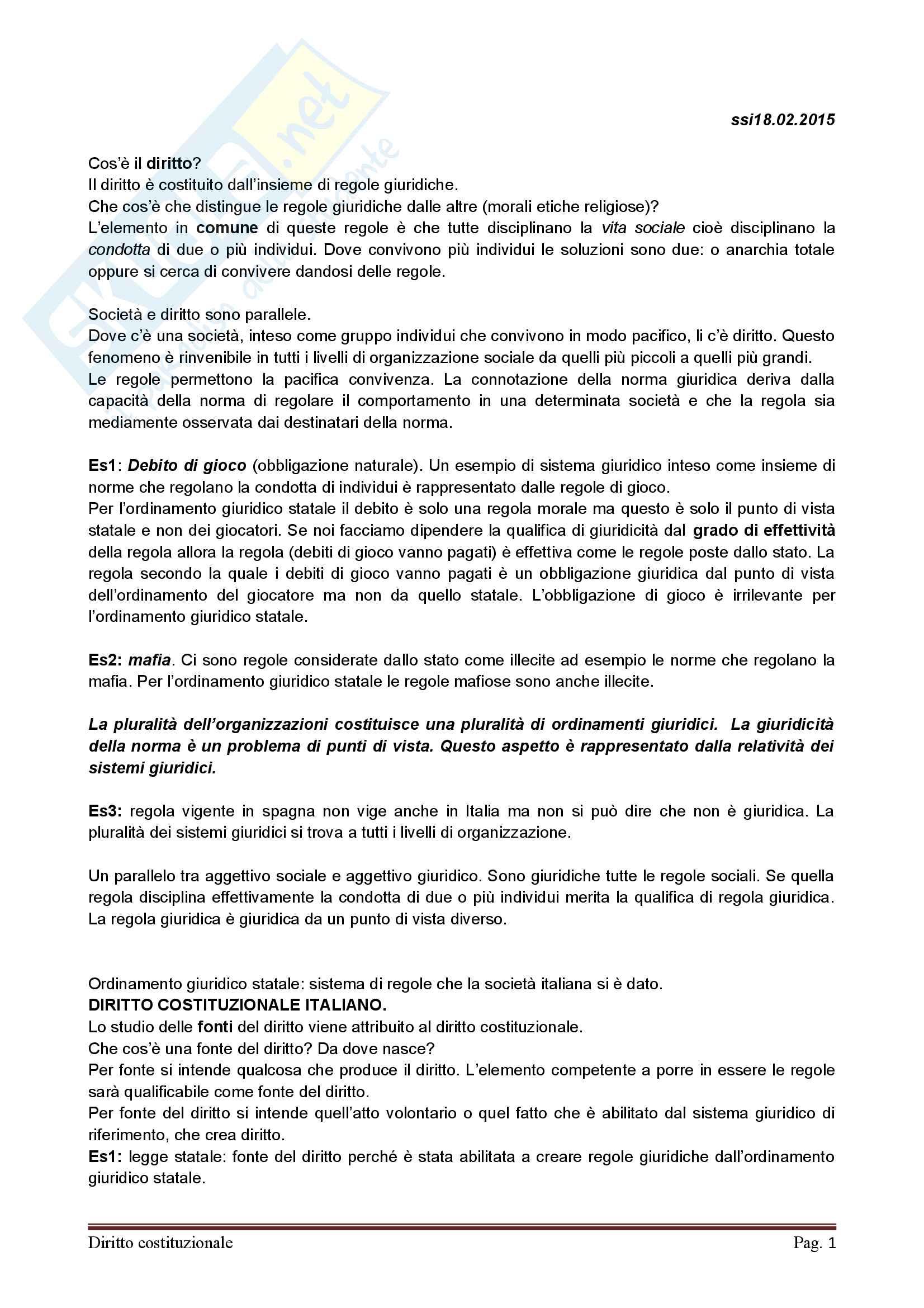 appunto P. Damiani Diritto costituzionale
