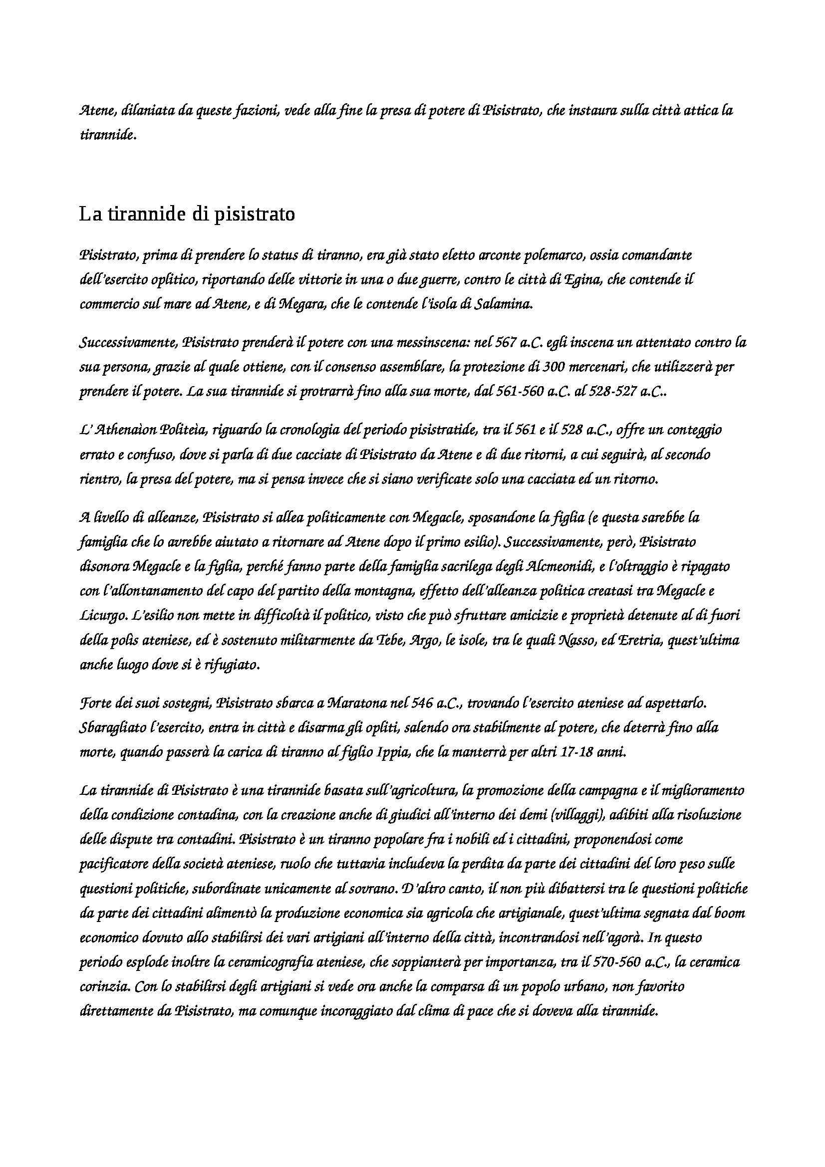 Storia Greca - Appunti Pag. 21