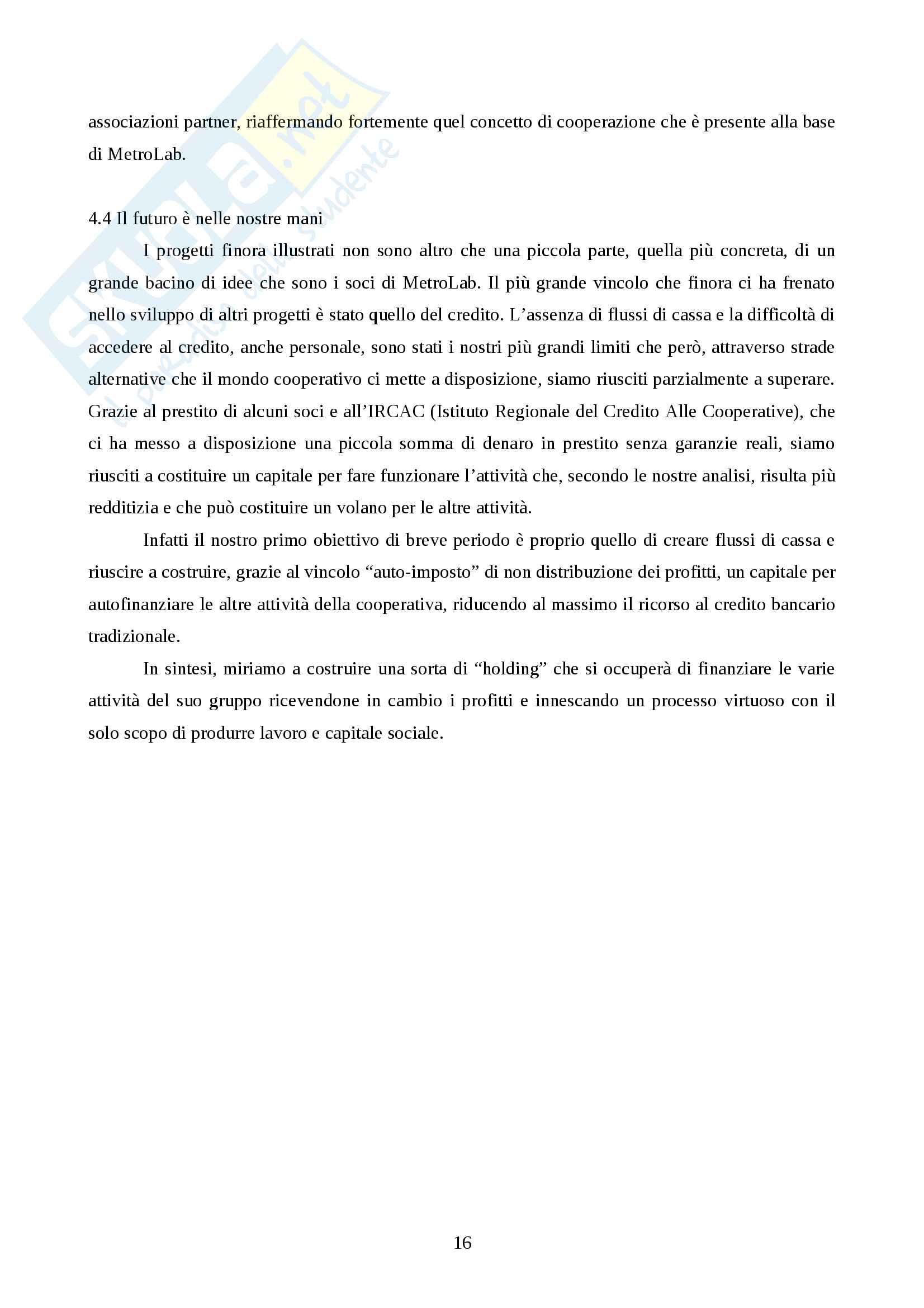 La Cooperativa Non Profit - Tesina Pag. 16