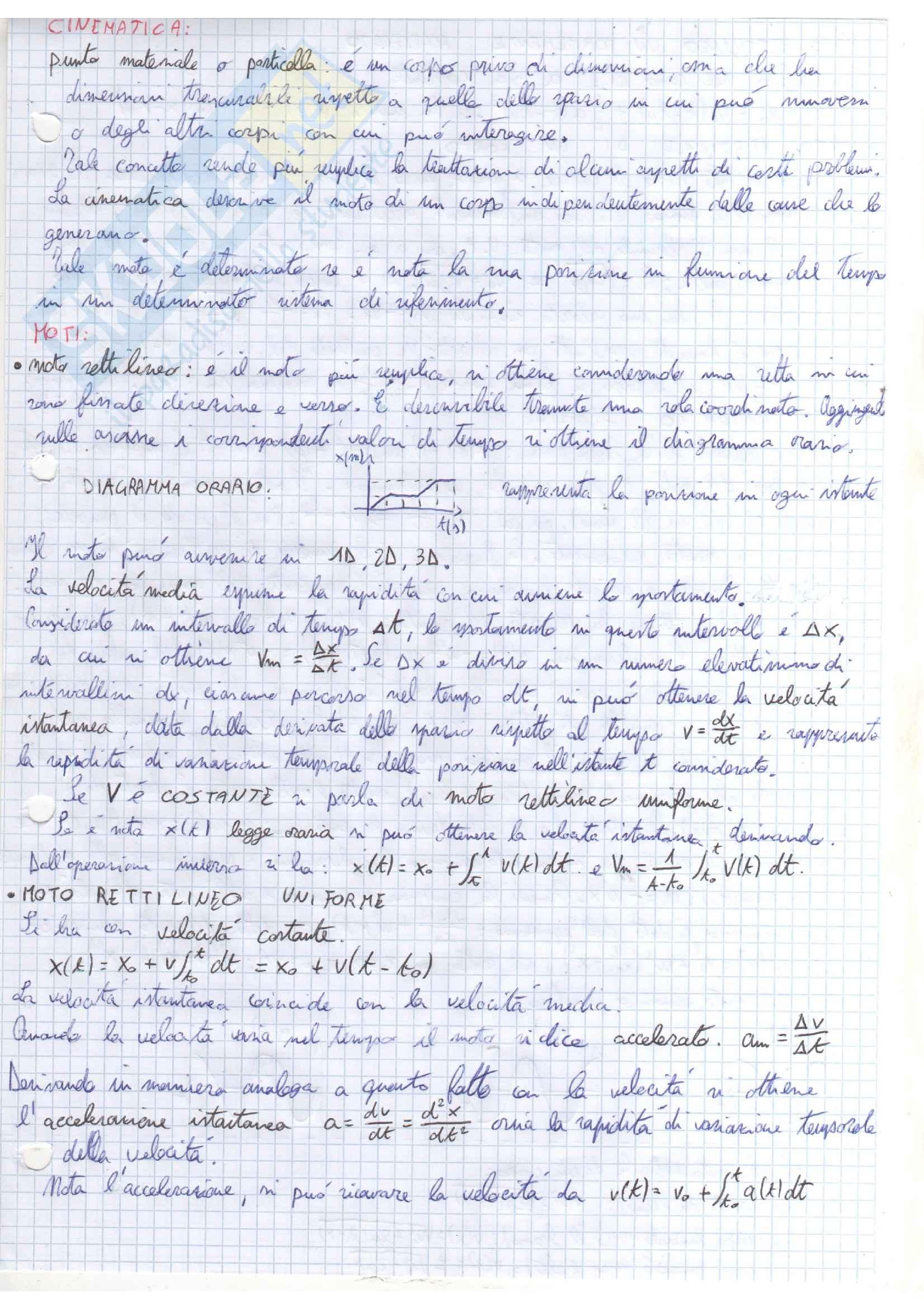 Appunti corso Fisica A