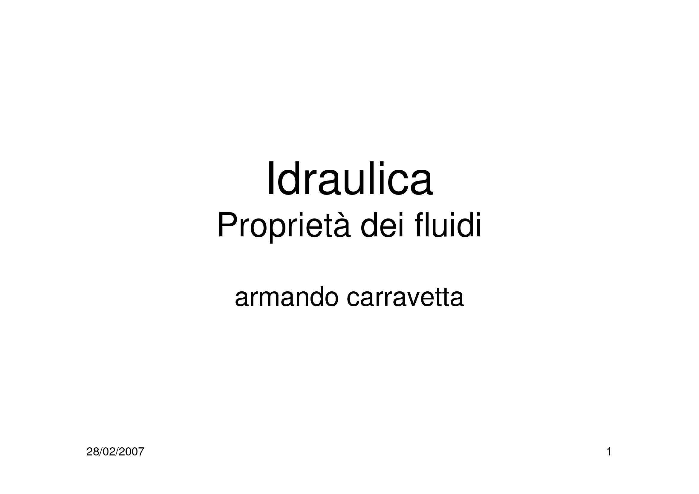 Fluidi - Proprietà