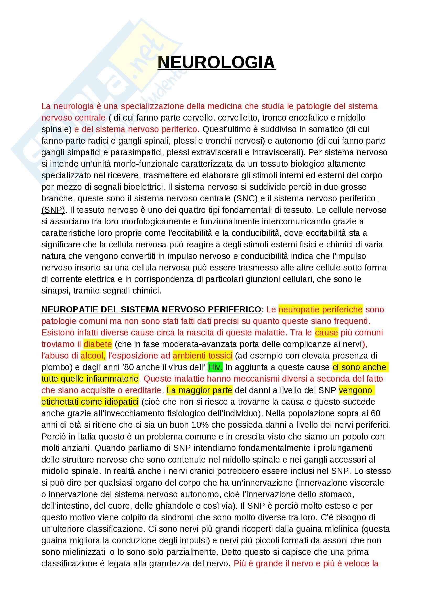Neurologia - Appunti