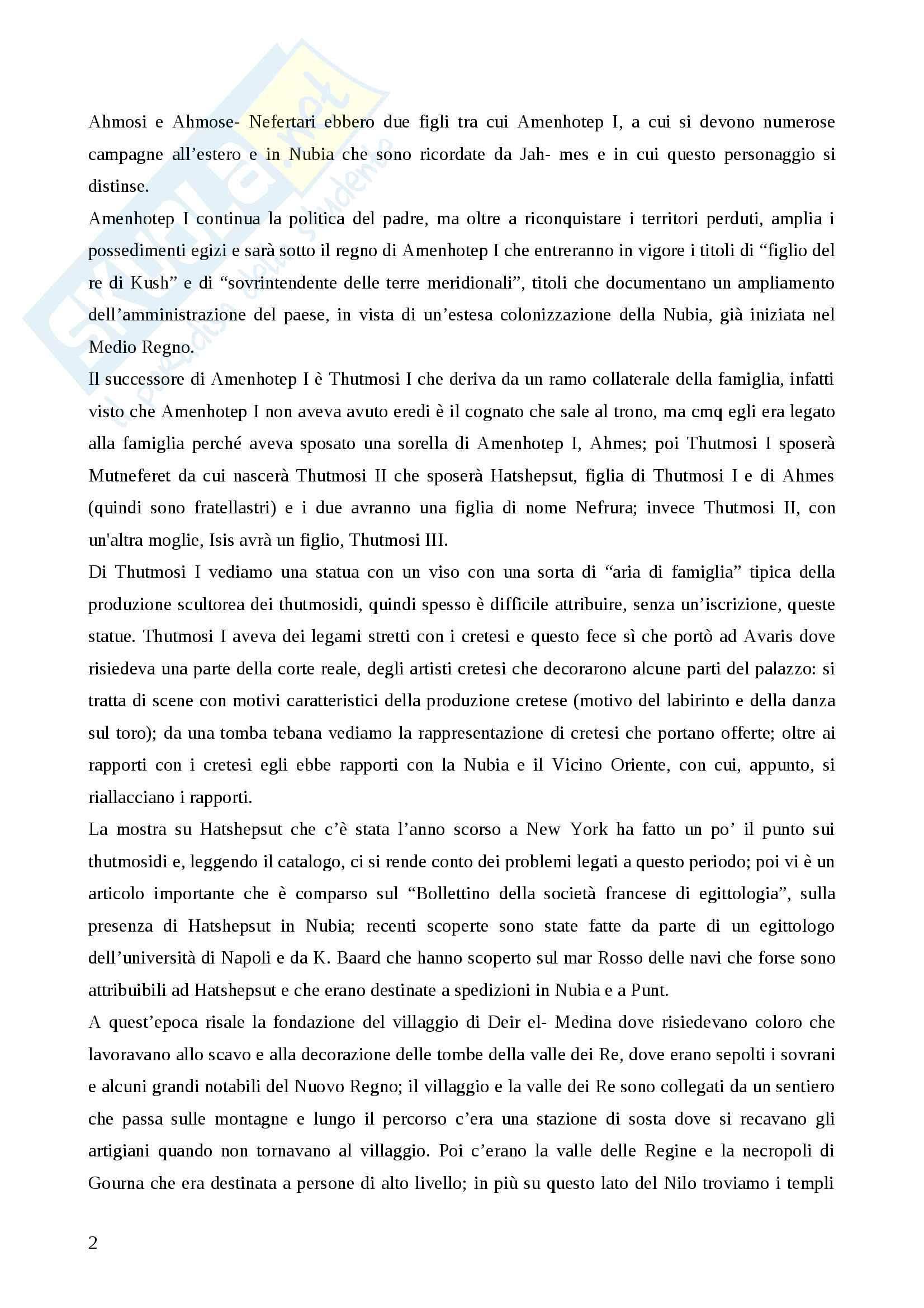 Egittologia: Appunti relativi al III modulo Pag. 2