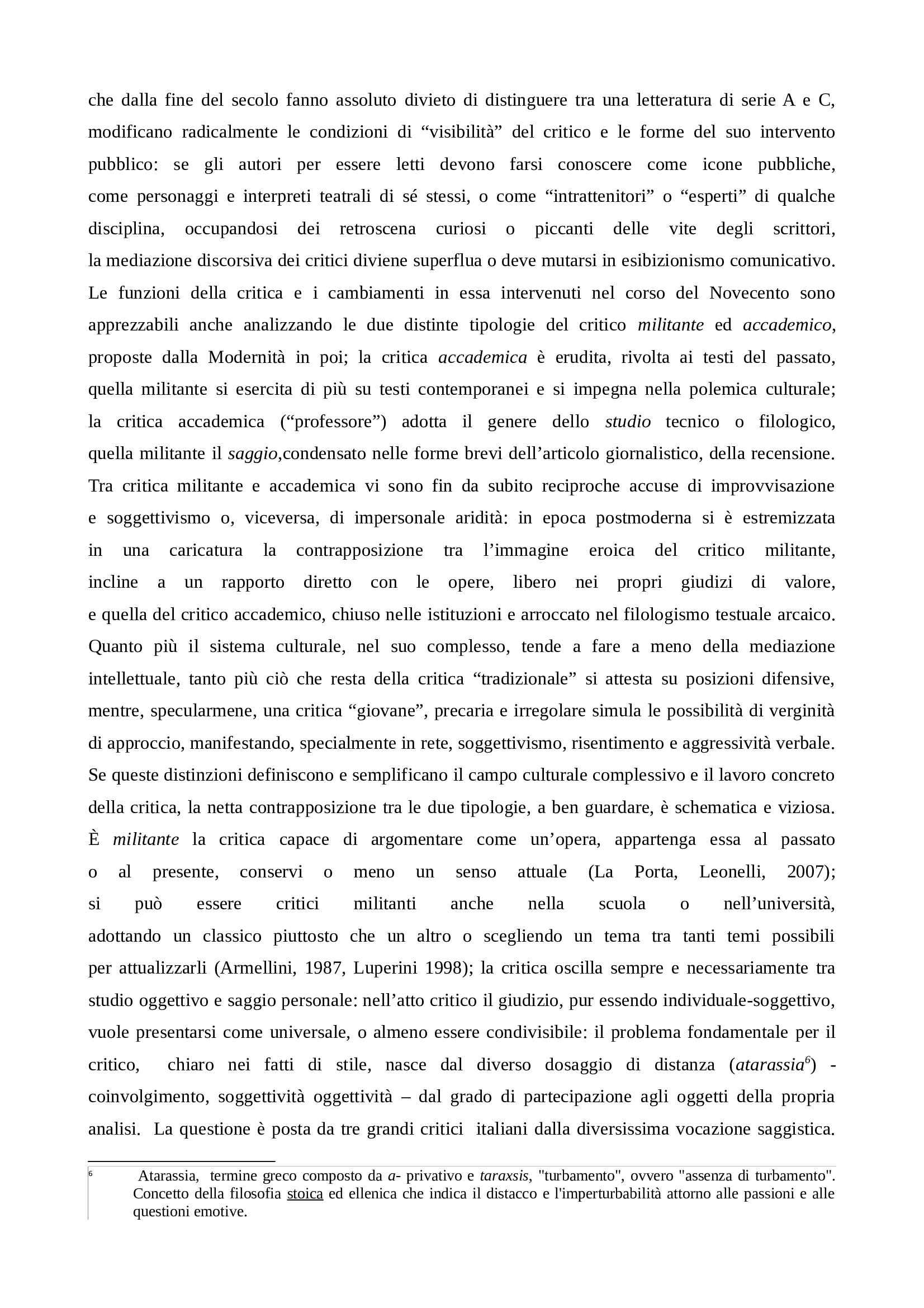 Riassunto esame Critica letteraria, prof. Augieri, libro consigliato Le idee e le forme di Zinato Pag. 6