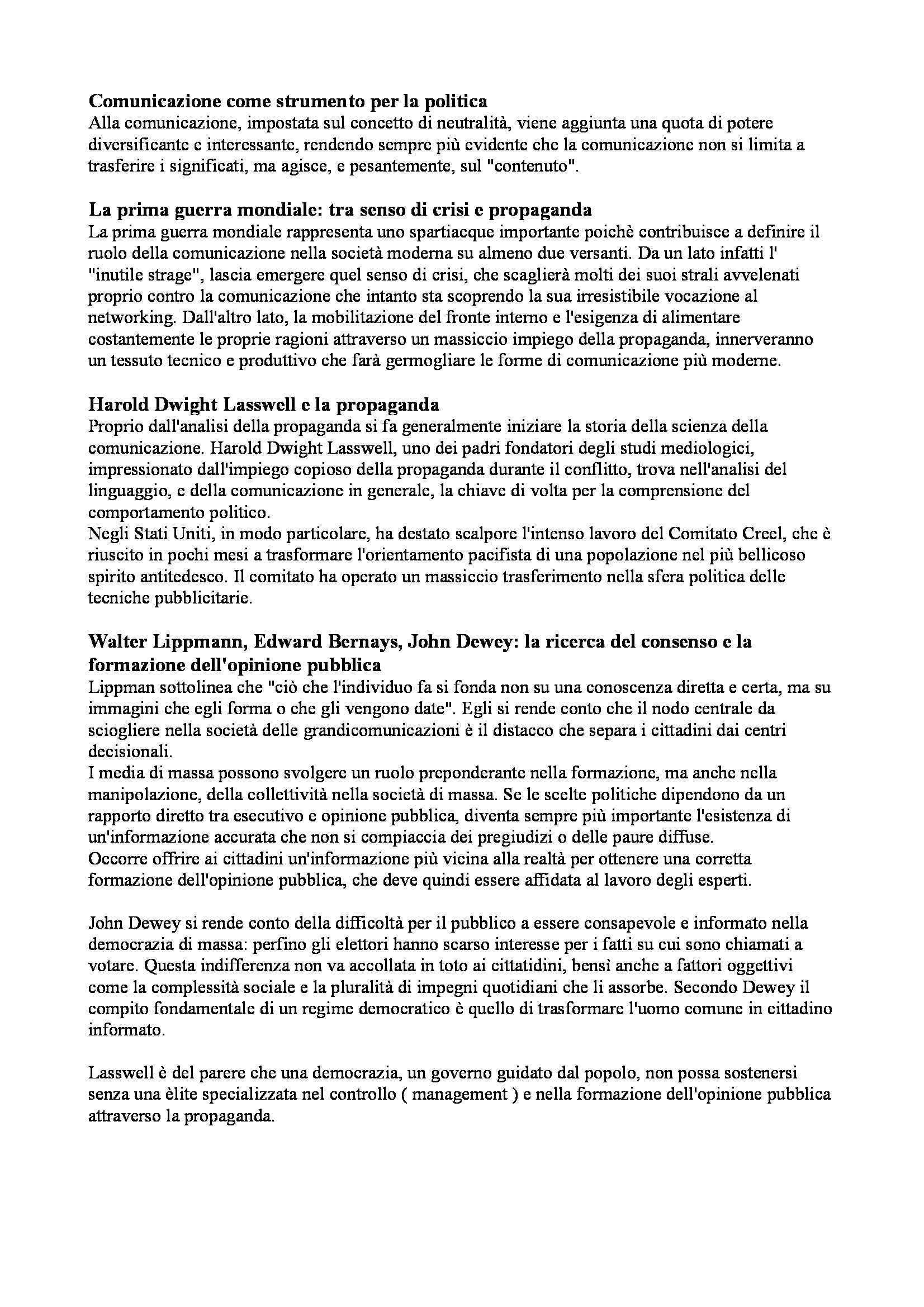 Riassunto esame Sociologia della comunicazione, prof. Fatelli, libro consigliato Comunicazione e media di Morcellini Pag. 2