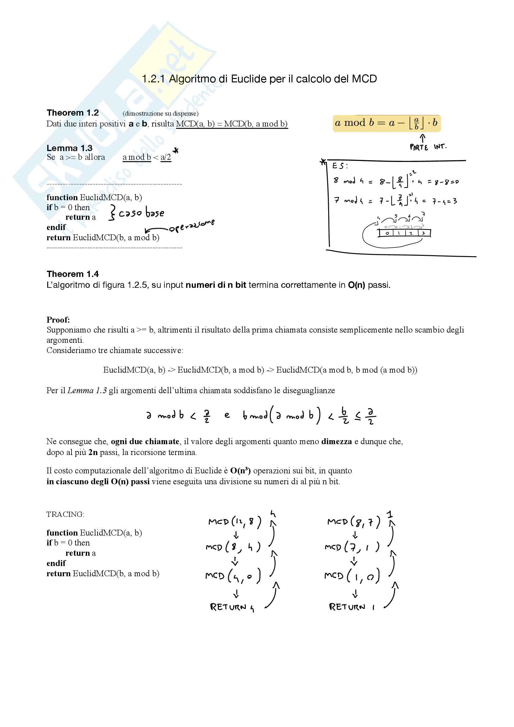 Appunti Algoritmi e strutture dati Pag. 1