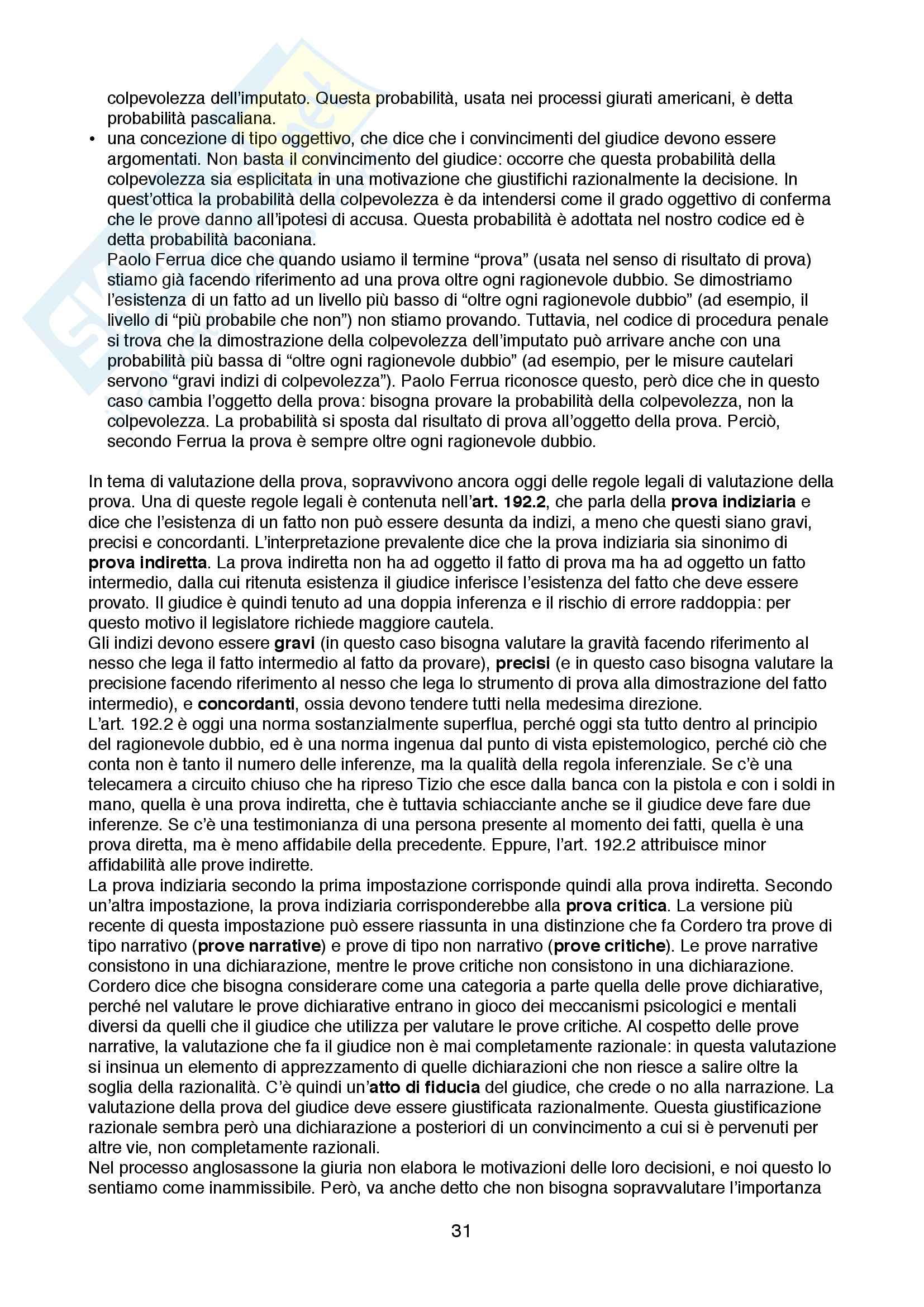 Appunti di Diritto Processuale Penale Pag. 31