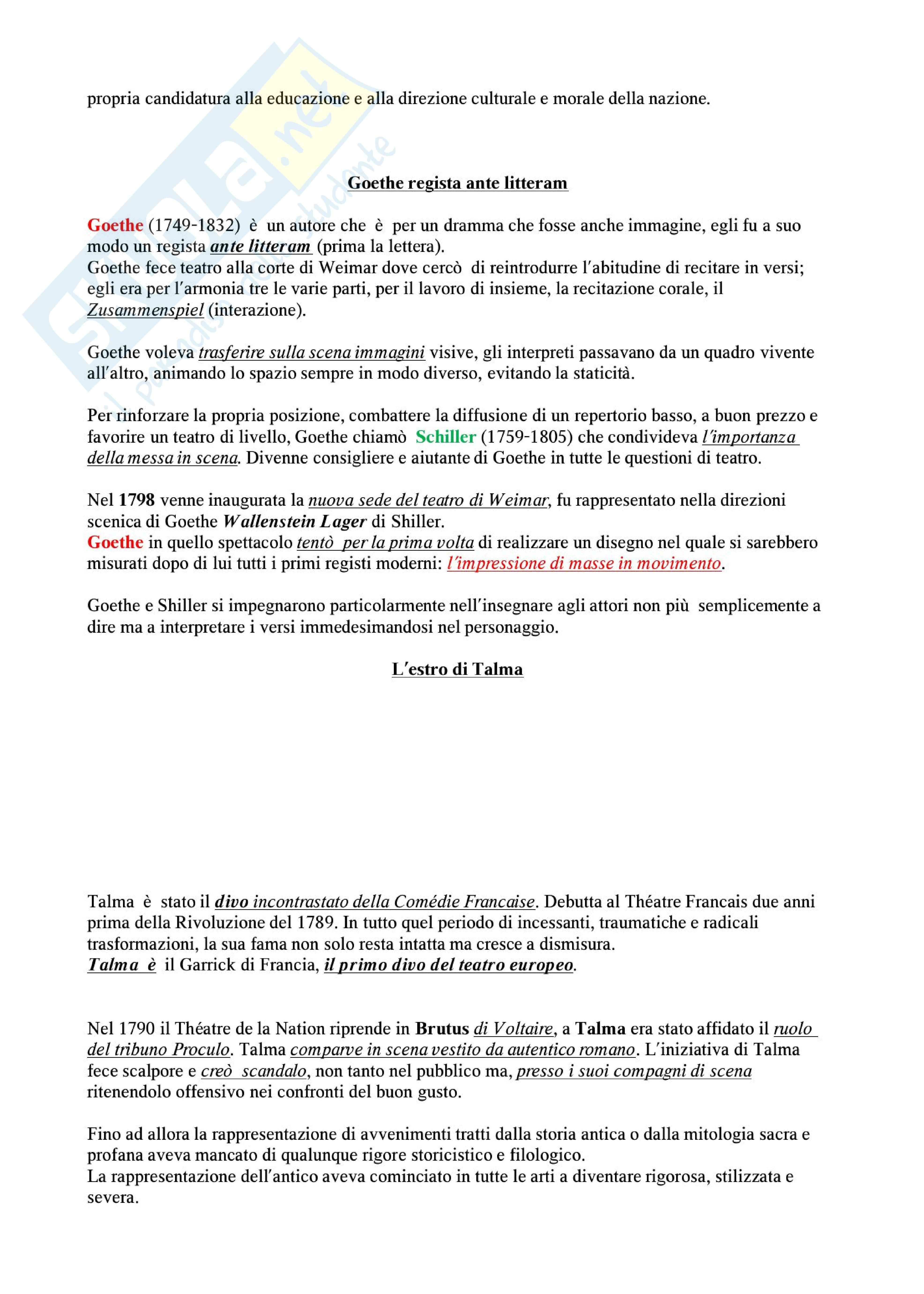 Riassunto esame Storia del teatro e dello spettacolo: la storia del teatro per immagini, prof. De Marinis Pag. 21