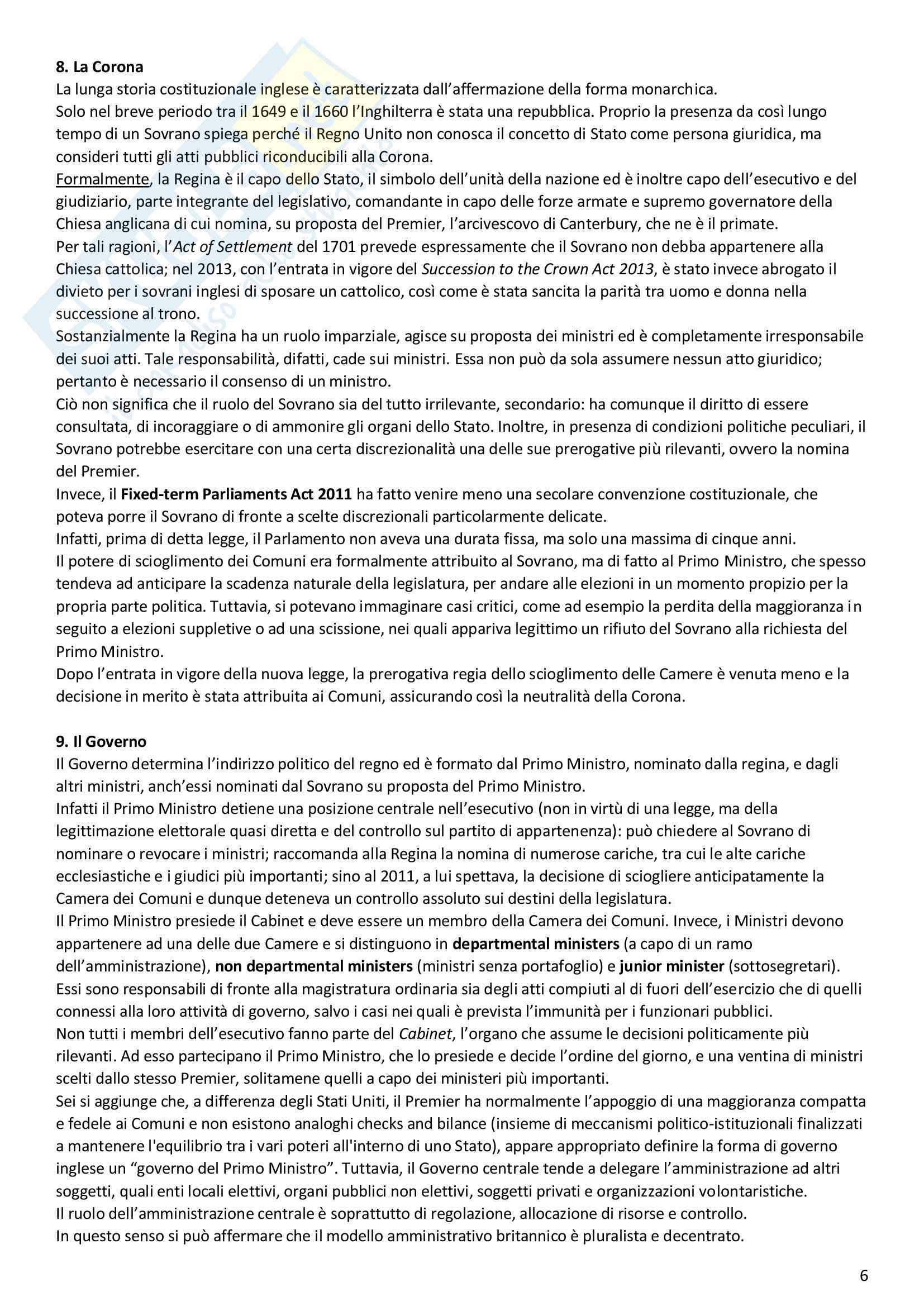 Il Regno Unito, diritto pubblico comparato Pag. 6