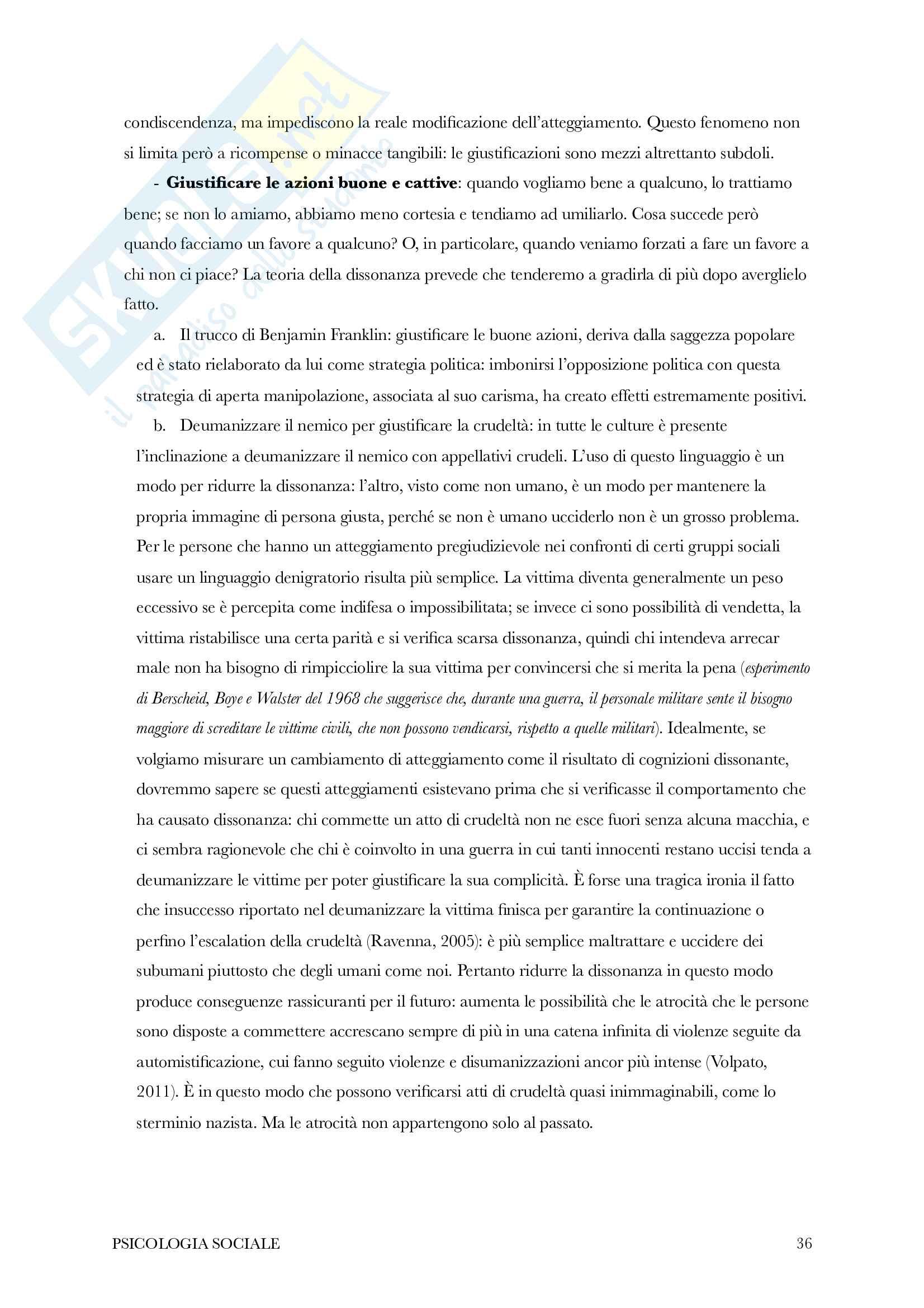 Riassunto di psicologia sociale Pag. 36