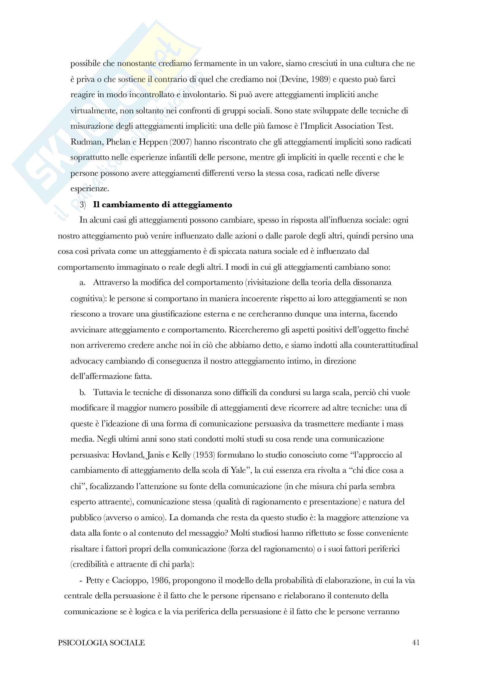 Riassunto di psicologia sociale Pag. 41