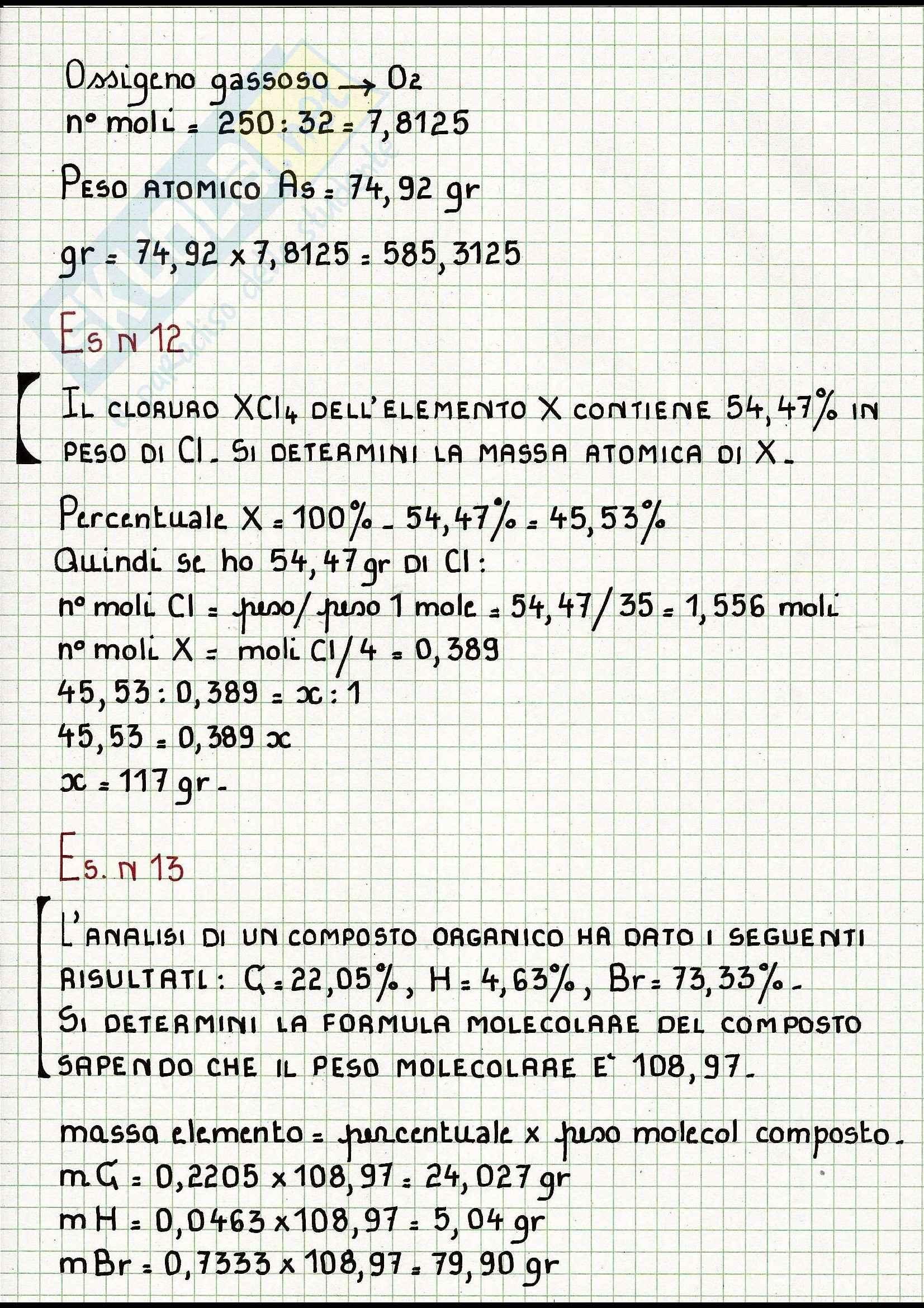 Esercizi di Chimica svolti Pag. 6