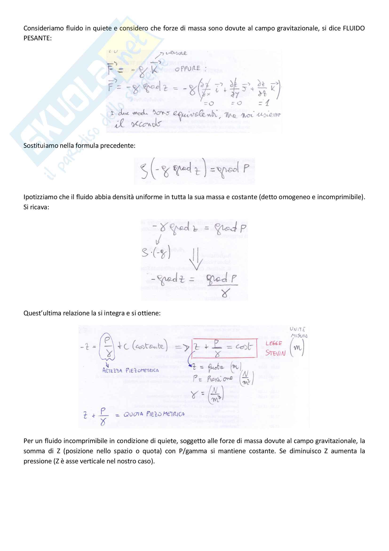 Meccanica dei fluidi prof. Boano Fulvio e Butera Ilaria Pag. 16