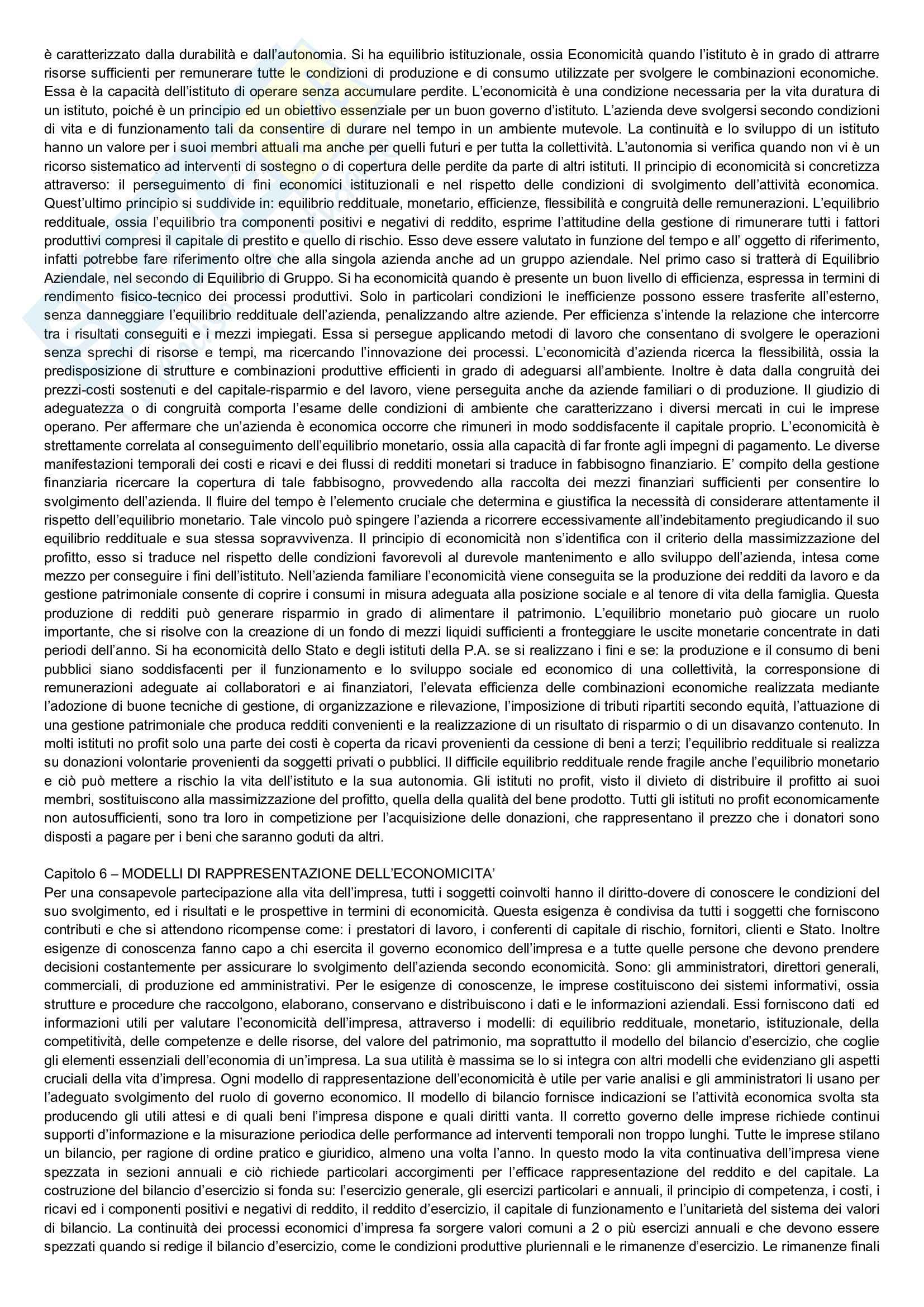 Riassunto esame Economia Aziendale, prof. Bianchi, libro consigliato Corso di economia aziendale, Airoldi, Brunetti, Coda Pag. 11