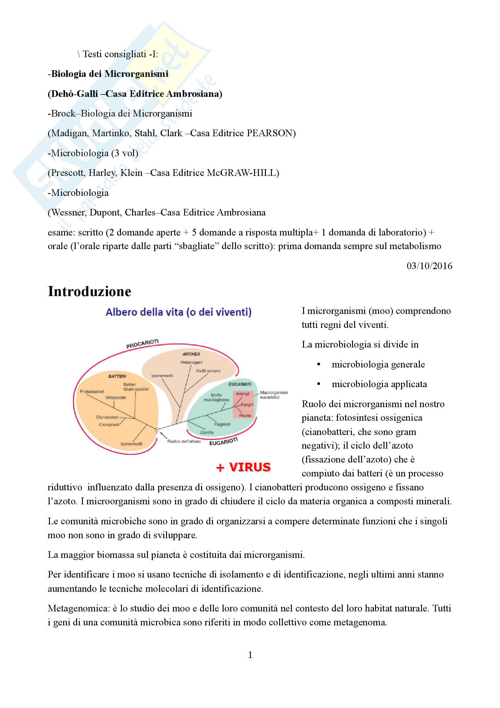 Appunti microbiologia