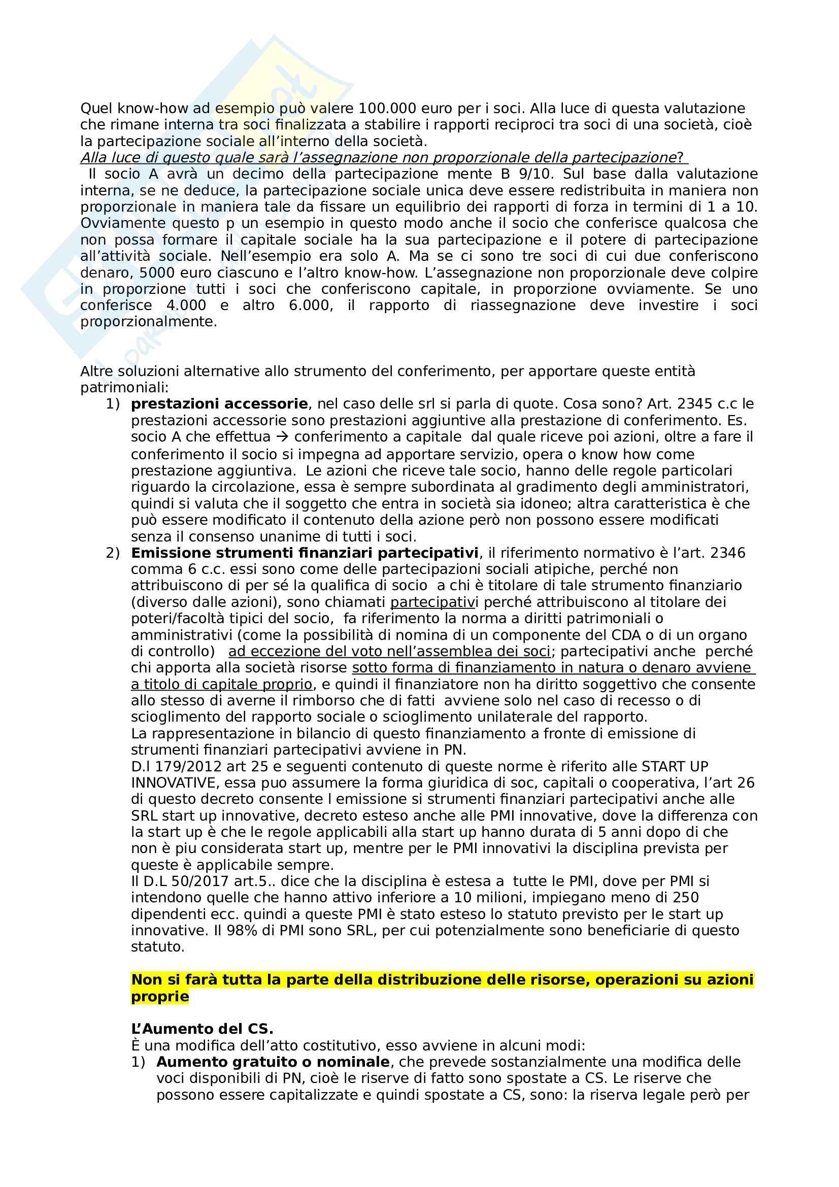 Riassunto del corso di Diritto delle società Pag. 31