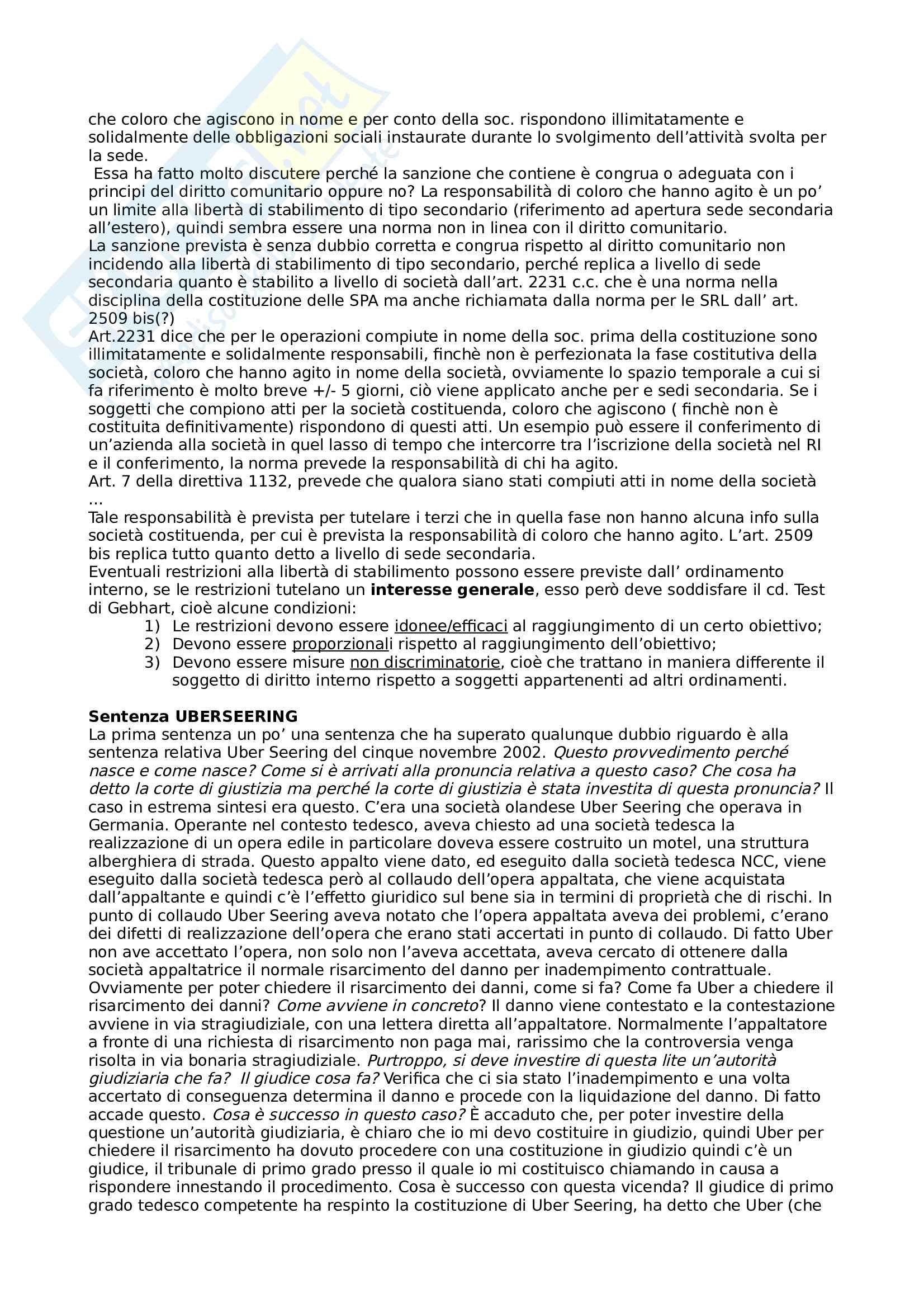 Riassunto del corso di Diritto delle società Pag. 6