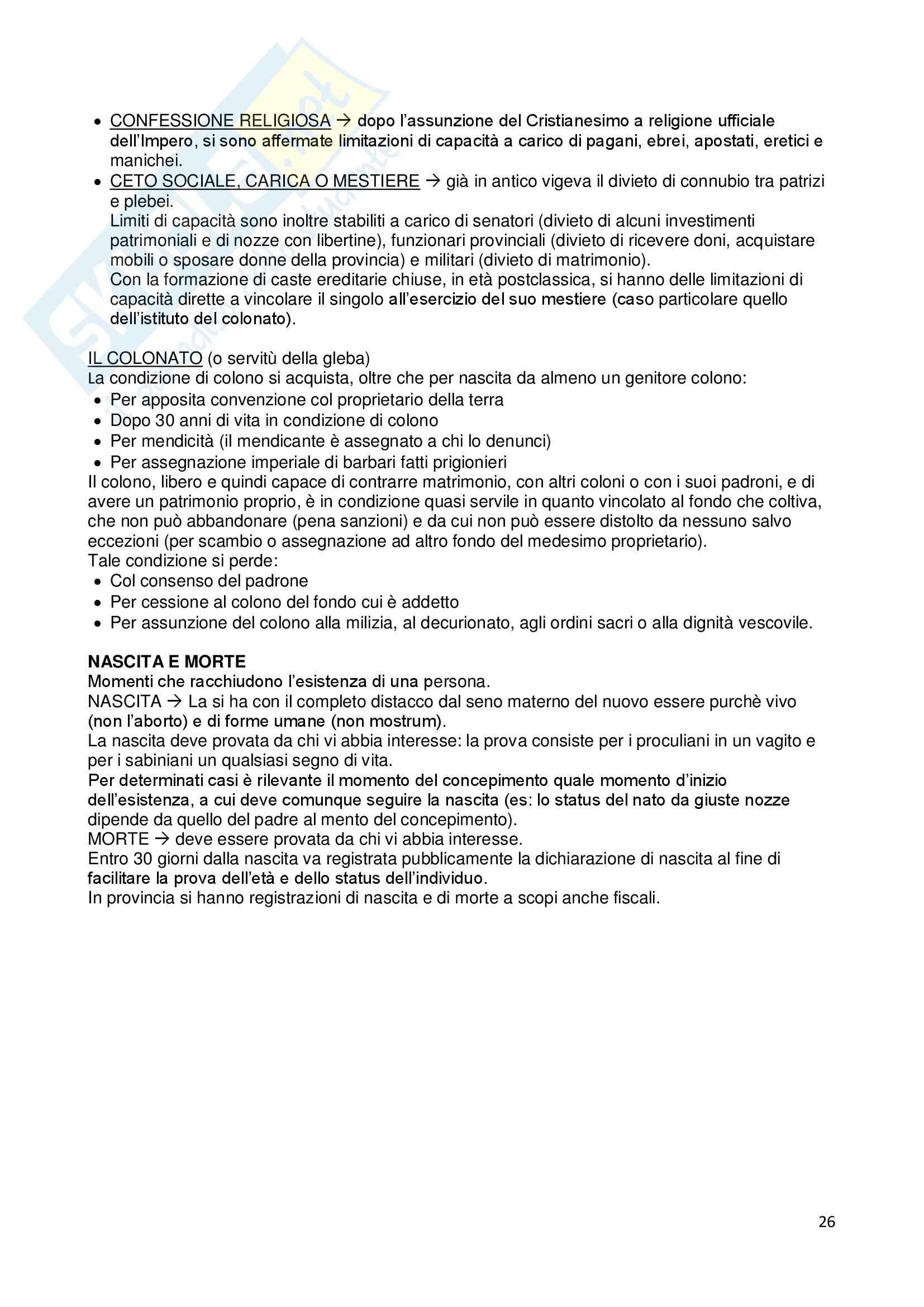 Riassunto esame Istituzioni di diritto romano, prof. Dalla Massara, libro consigliato Marrone Pag. 26