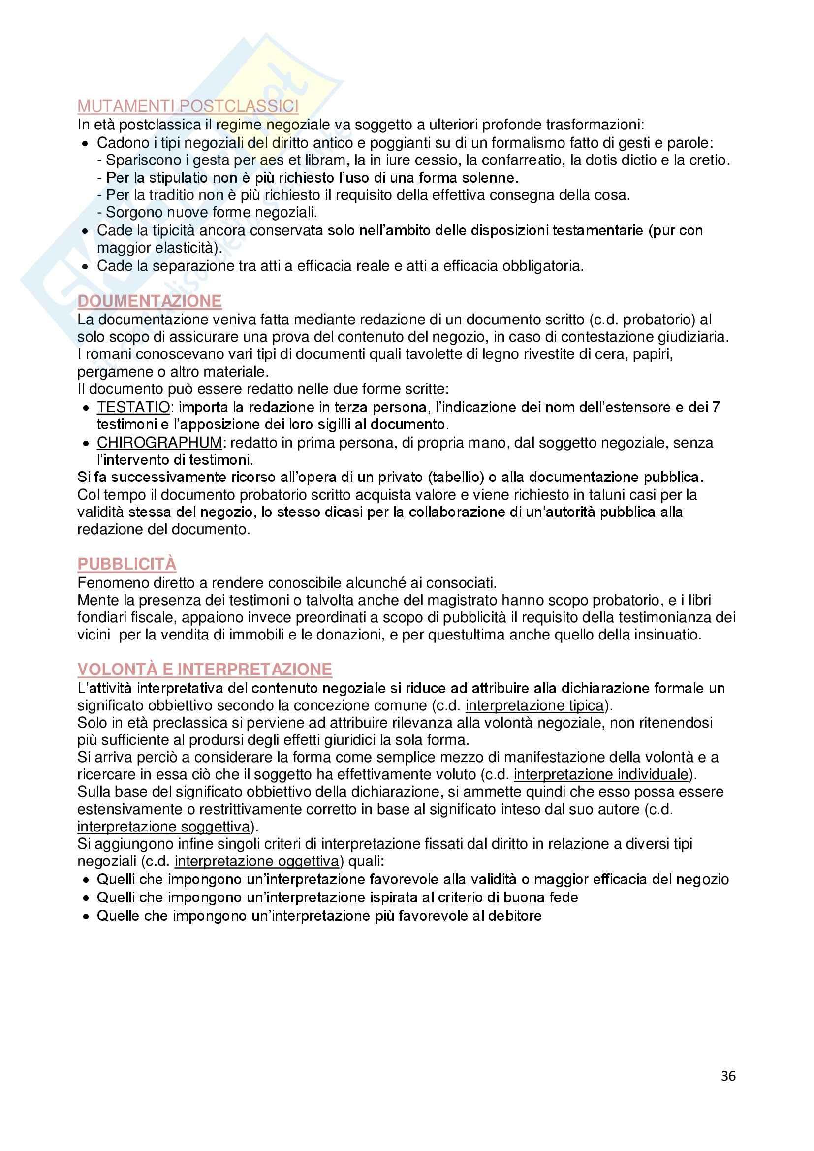 Riassunto esame Istituzioni di diritto romano, prof. Dalla Massara, libro consigliato Marrone Pag. 36