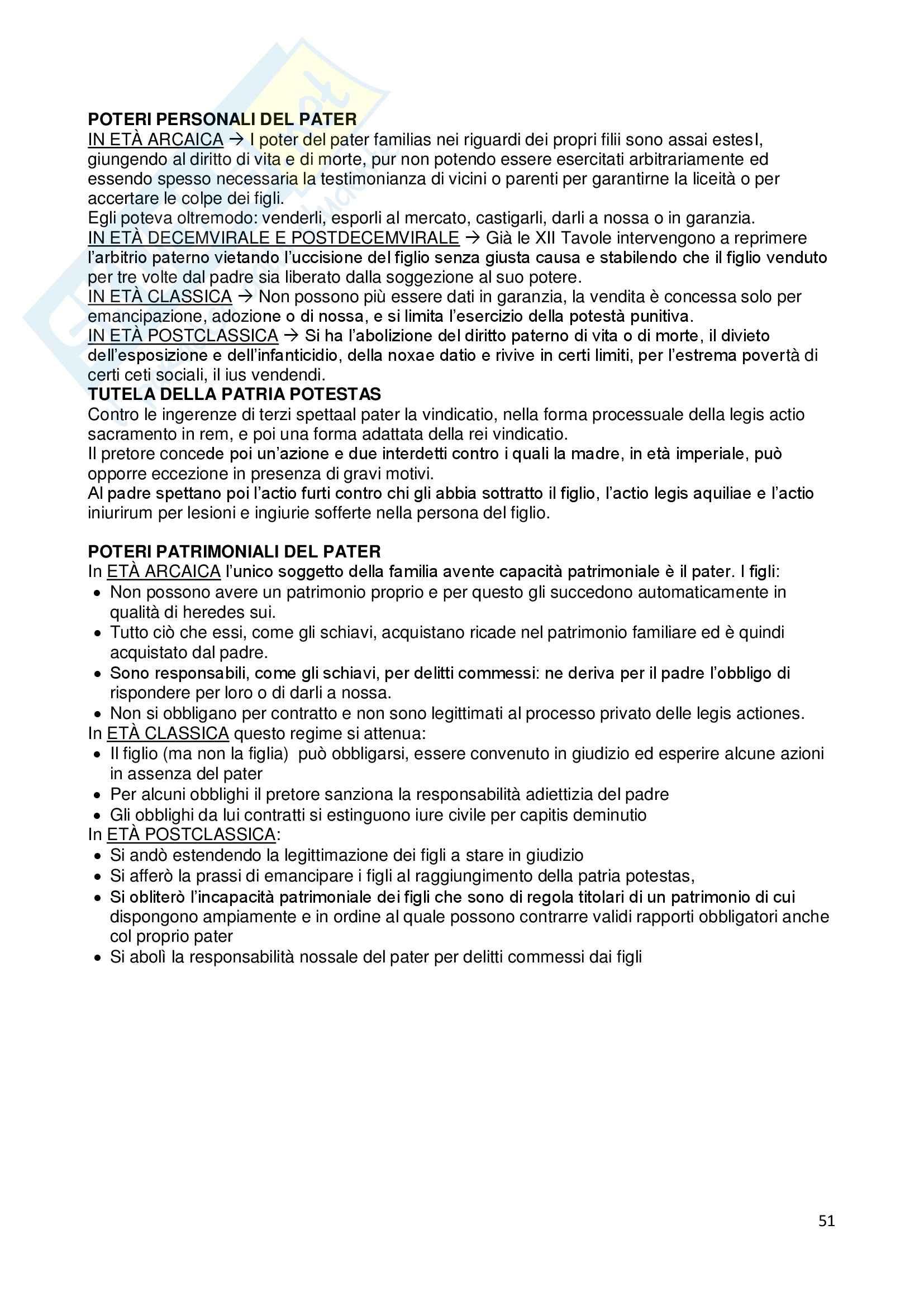 Riassunto esame Istituzioni di diritto romano, prof. Dalla Massara, libro consigliato Marrone Pag. 51