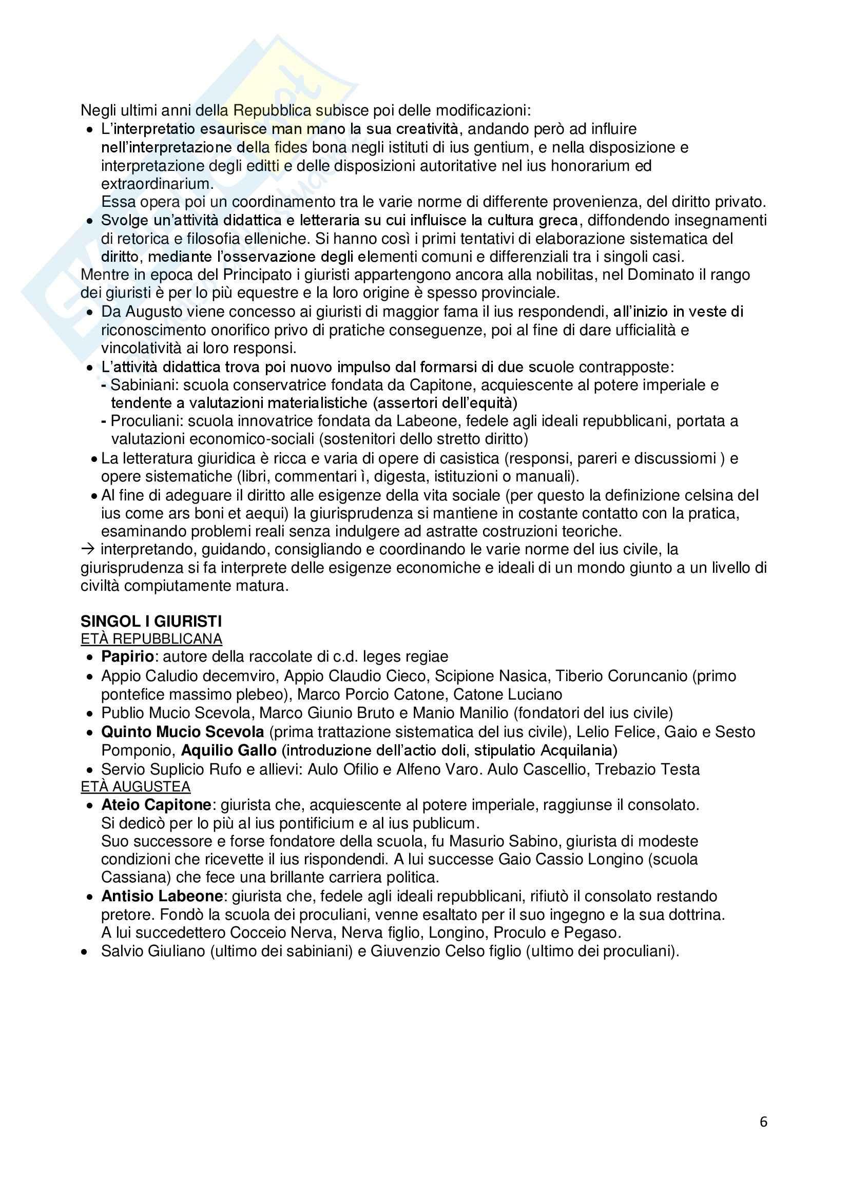 Riassunto esame Istituzioni di diritto romano, prof. Dalla Massara, libro consigliato Marrone Pag. 6
