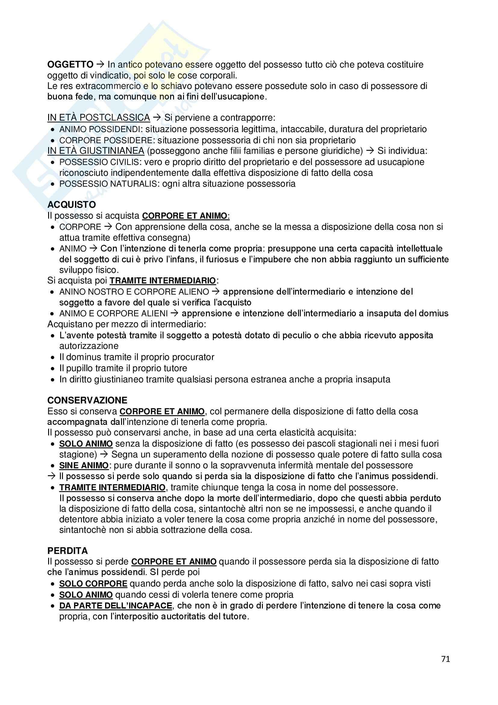 Riassunto esame Istituzioni di diritto romano, prof. Dalla Massara, libro consigliato Marrone Pag. 71