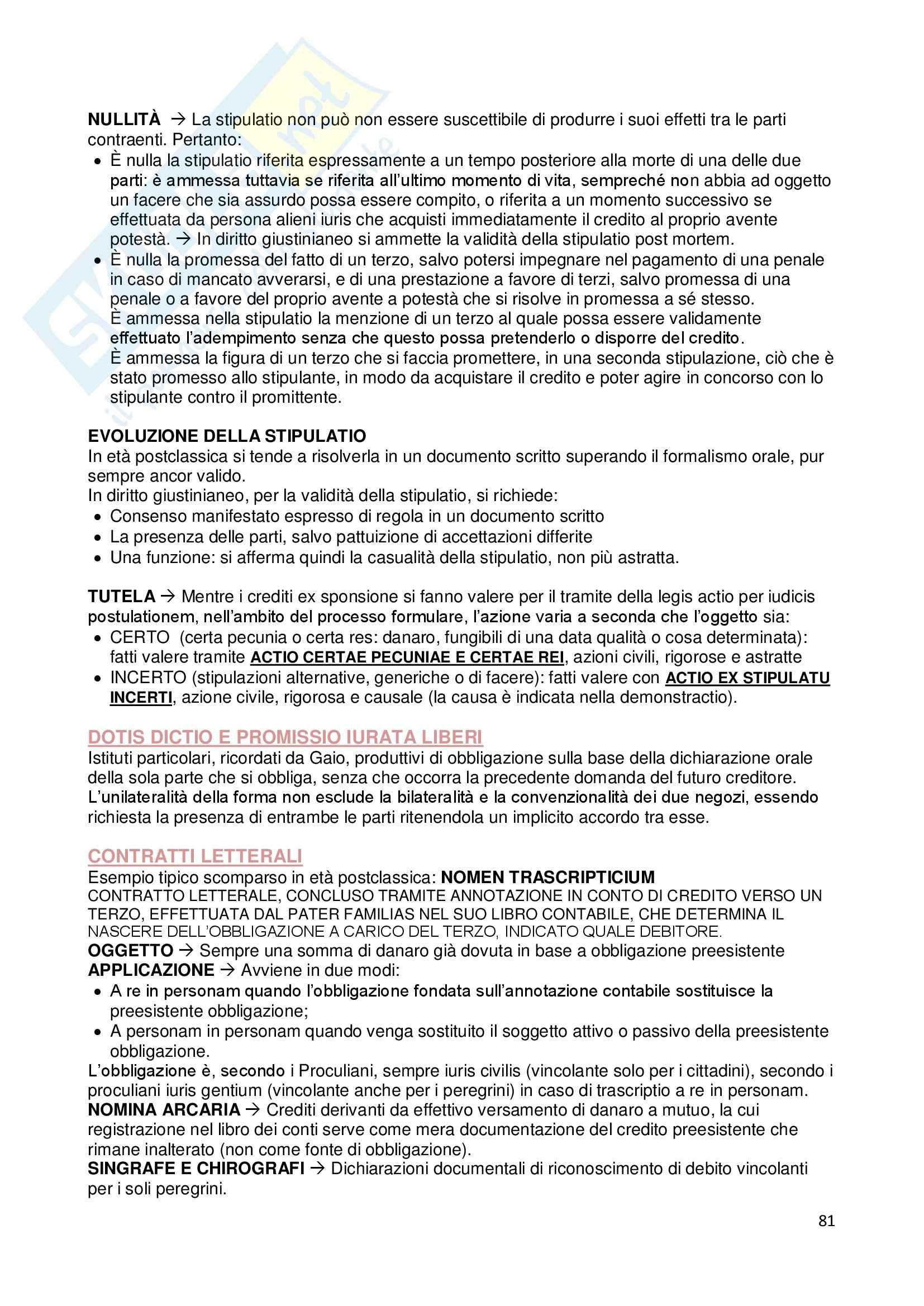 Riassunto esame Istituzioni di diritto romano, prof. Dalla Massara, libro consigliato Marrone Pag. 81