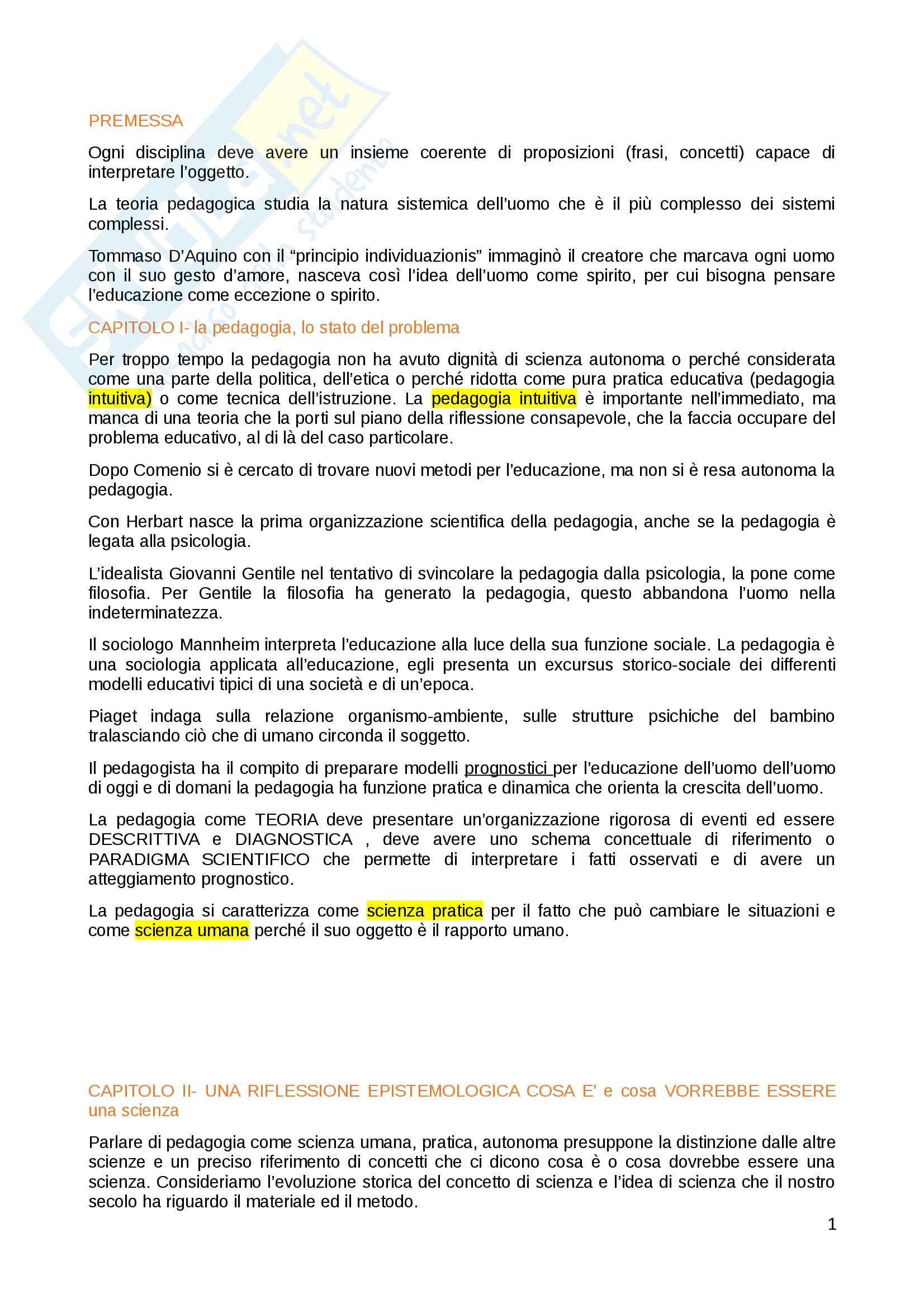 appunto M. Corsi Pedagogia generale