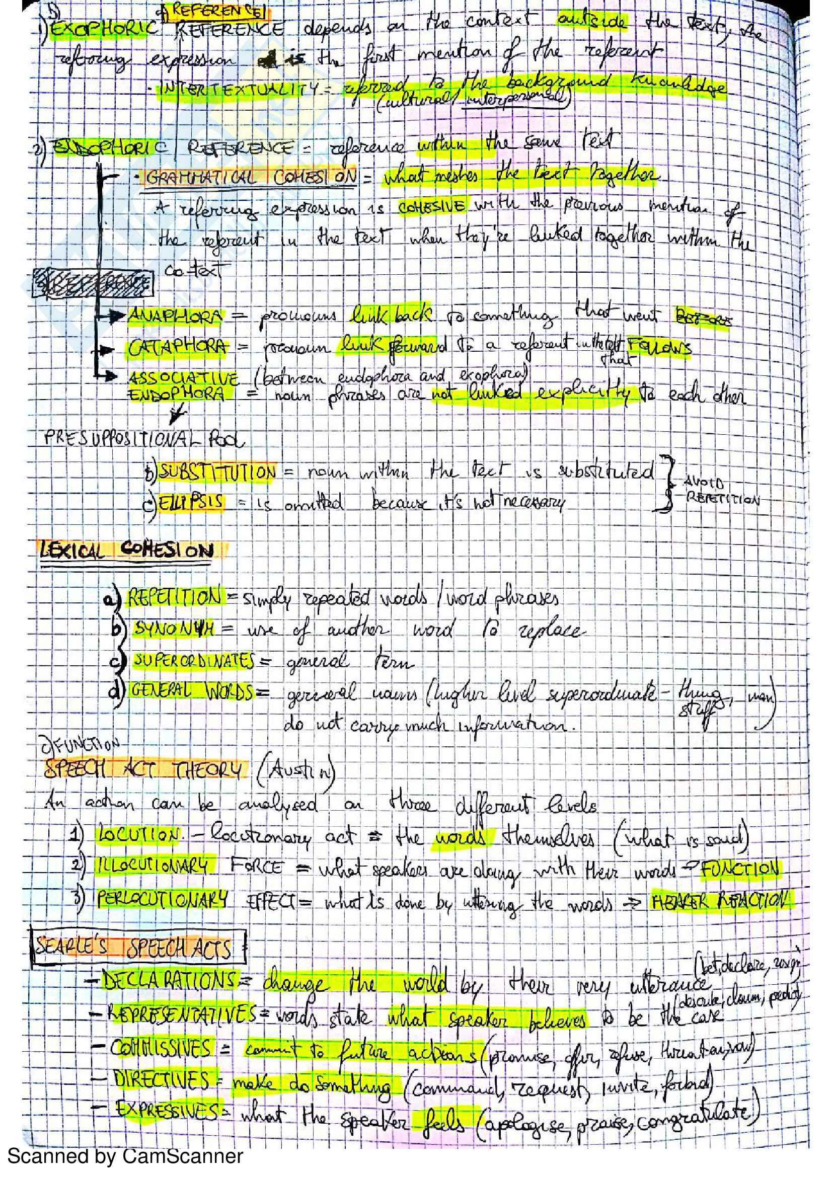 """Riassunto esame Lingua e Traduzione Inglese 3, professoressa D'Antonio, libro consigliato """"Pragmatics & Discourse"""" Pag. 2"""