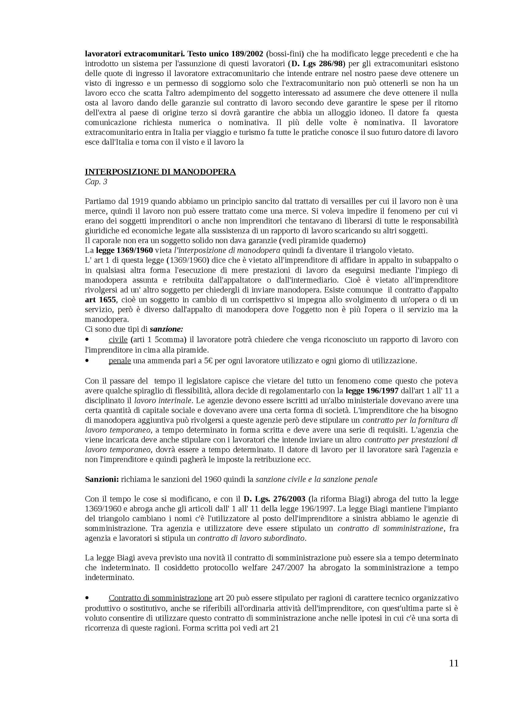 Diritto del lavoro - Appunti Pag. 11